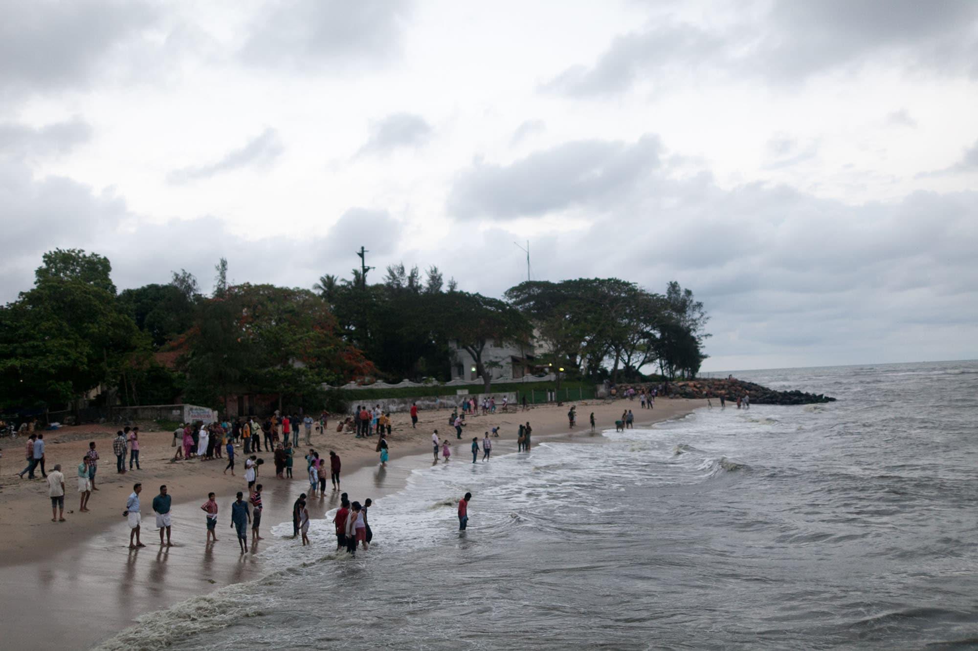 The beach in Kochi, India (Cochin) in Kerala.