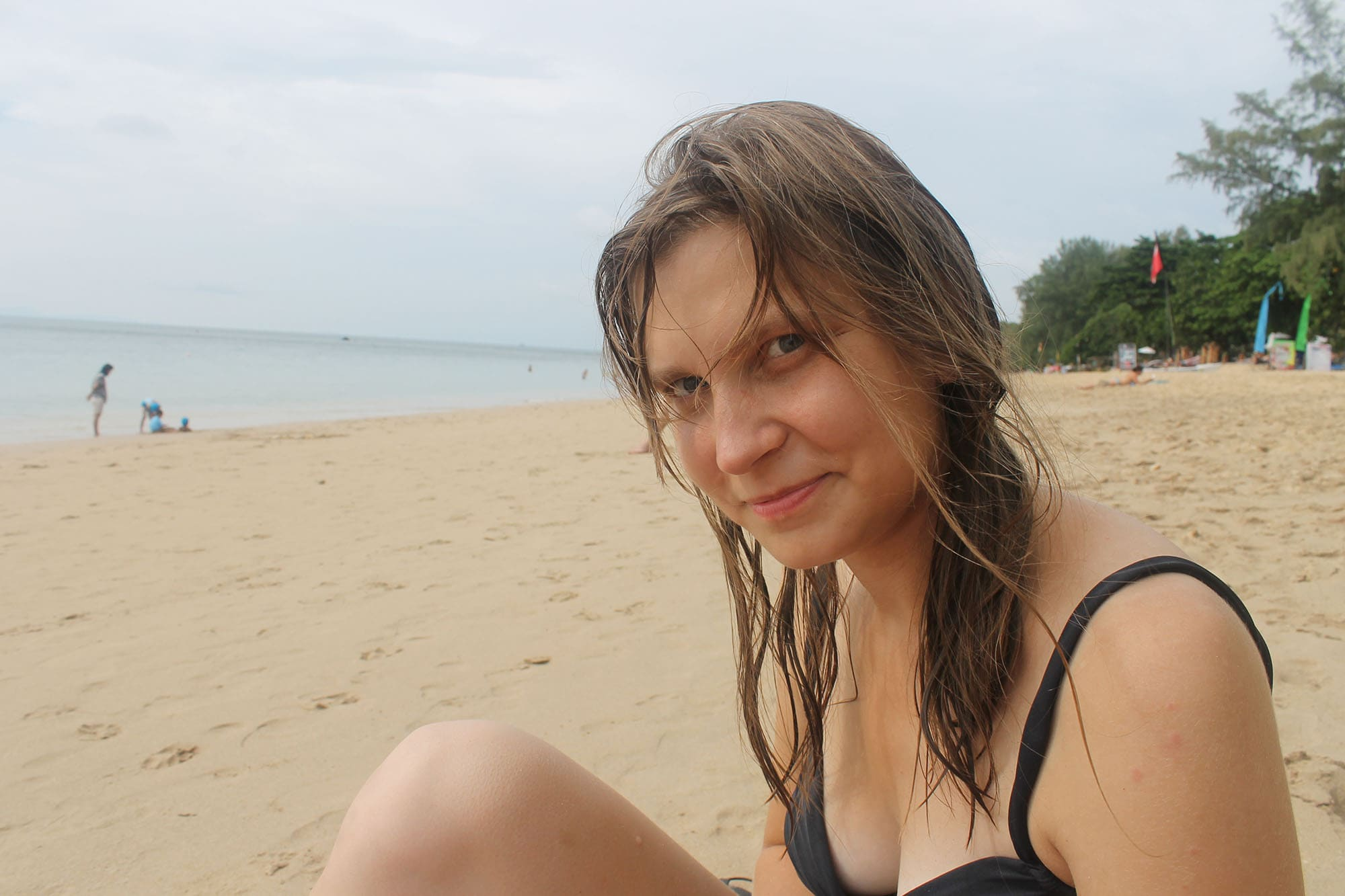 Relaxing on the beach in Koh Lanta, Thailand