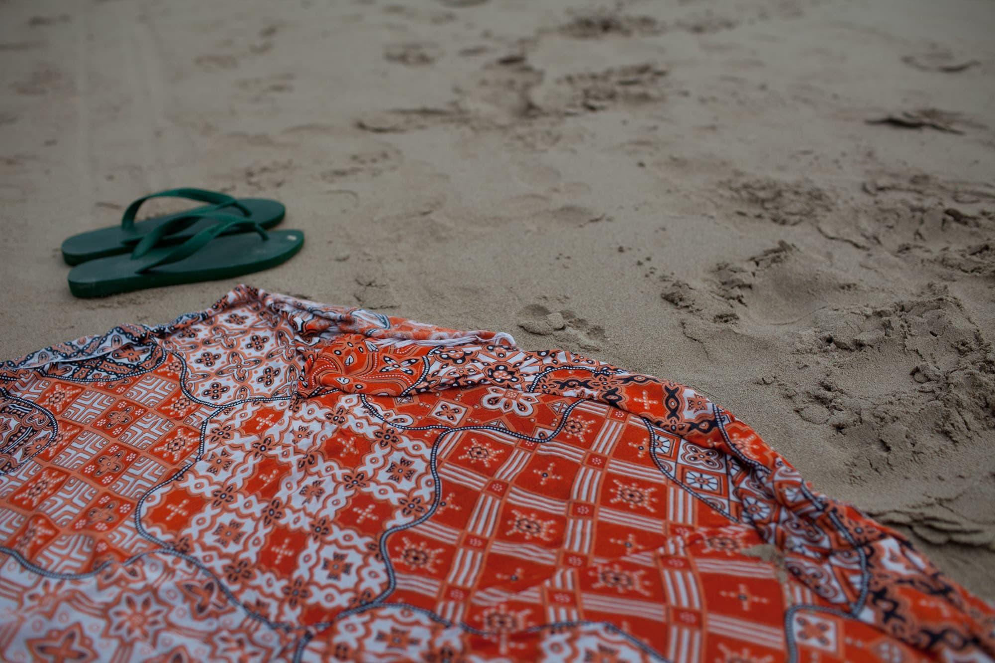 On the sand in Koh Lanta, Thailand