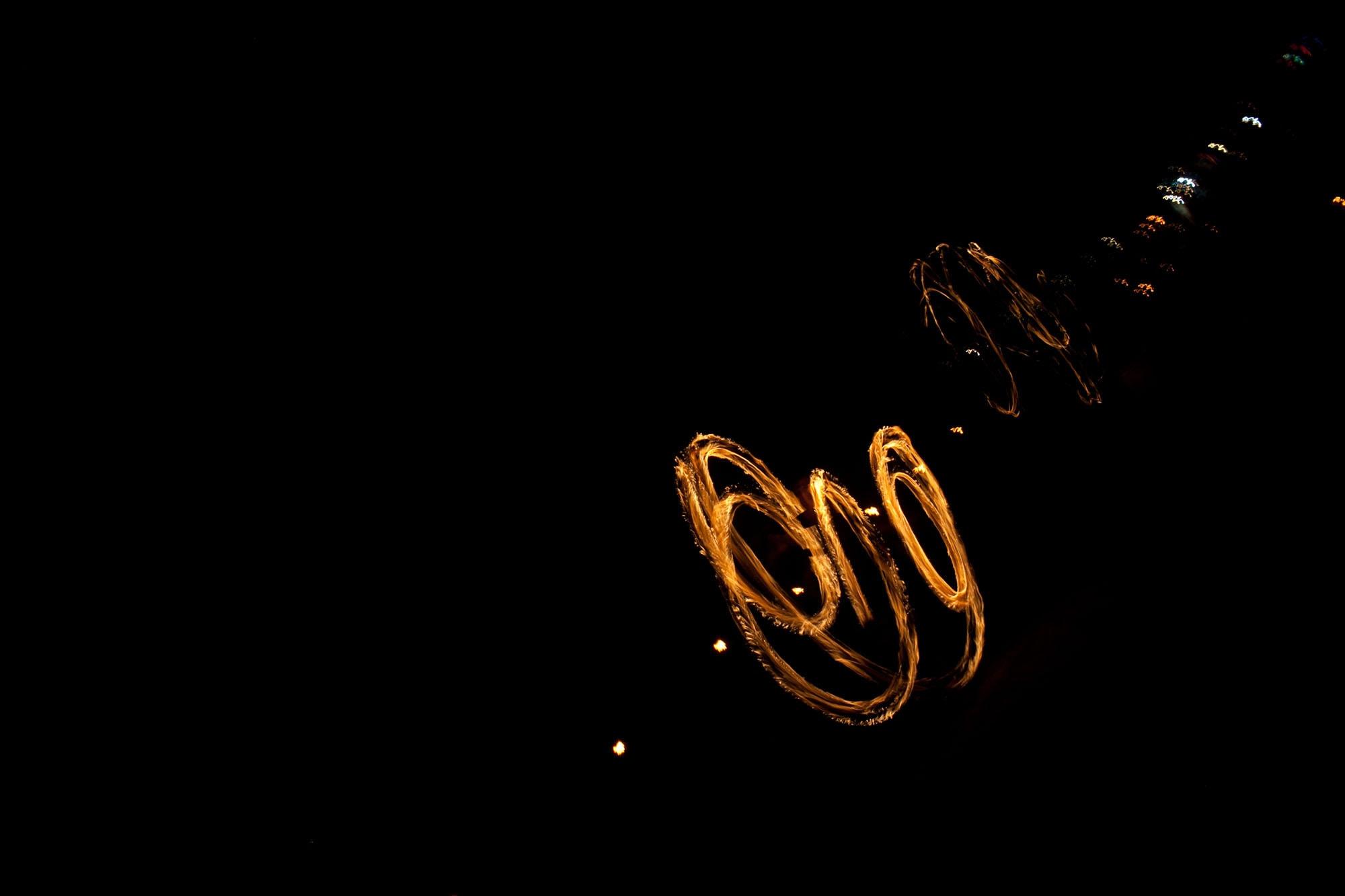 Poi fire dancers in Koh Tao, Thailand.