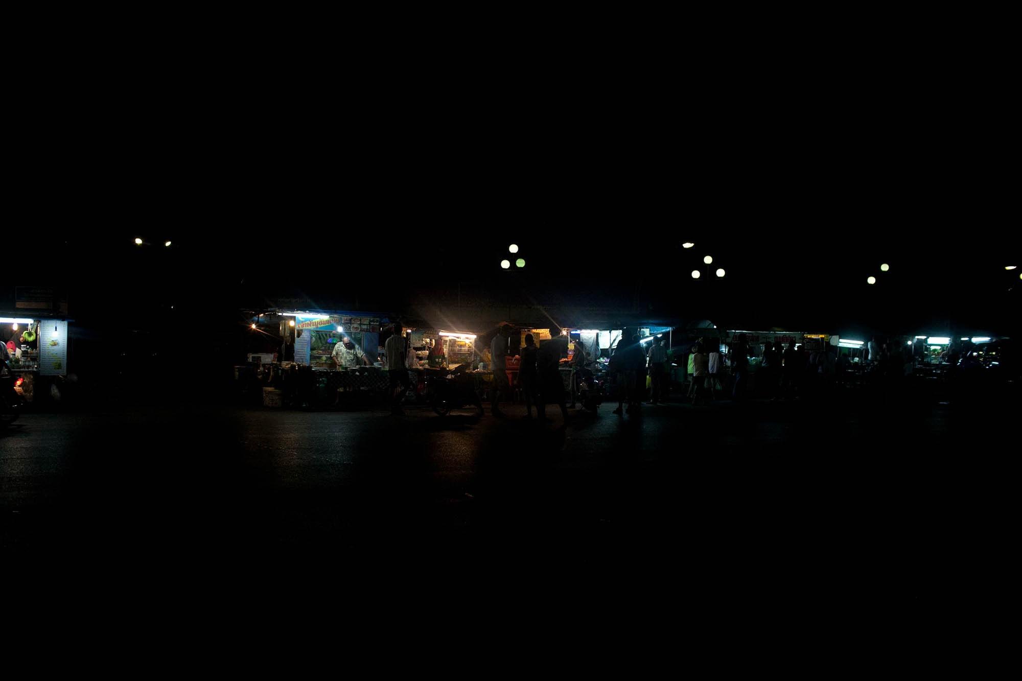 JUST LET THINGS HAPPEN -- Night market in Krabi, Thailand