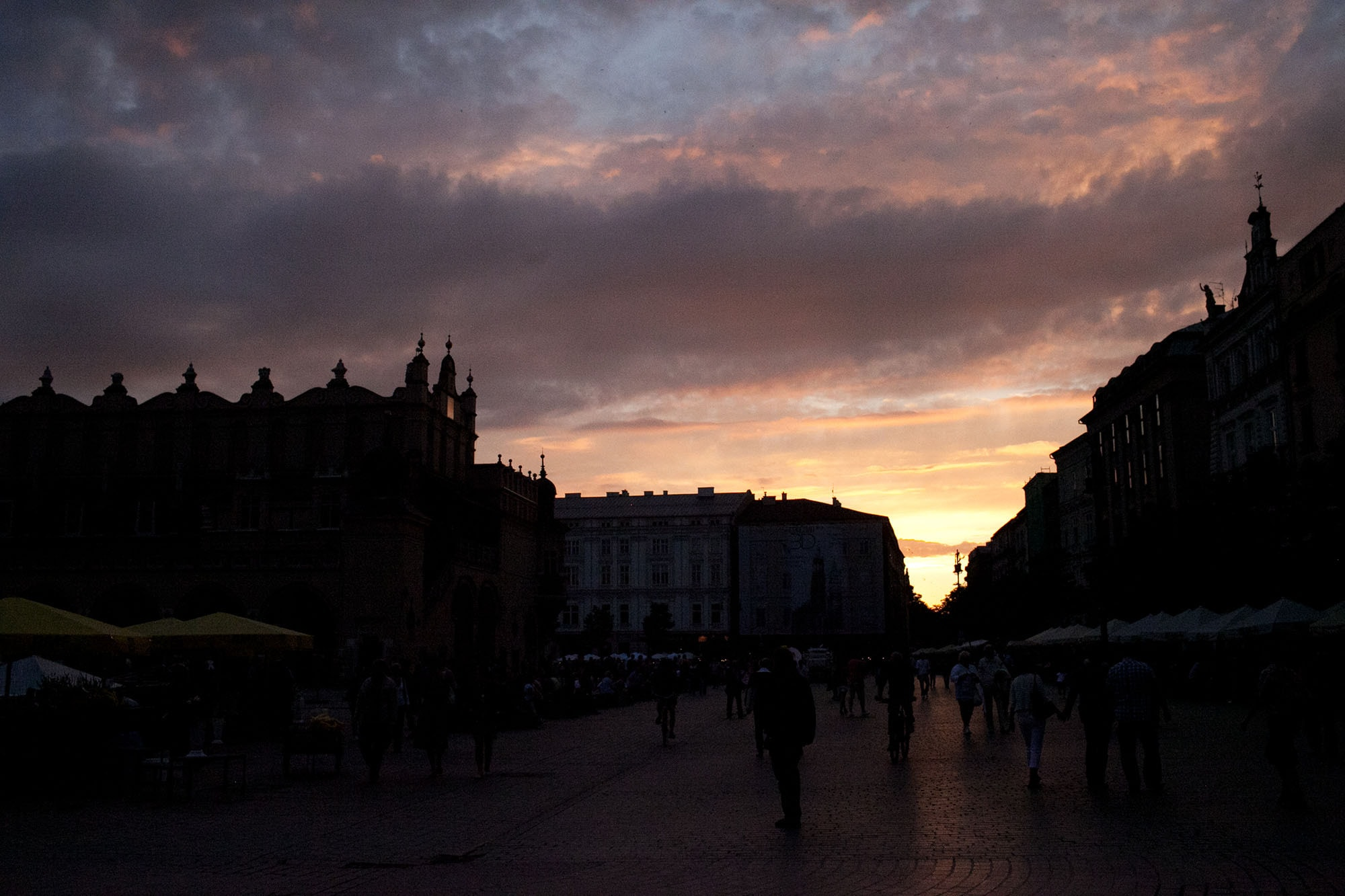 Beautiful sky in Krakow, Poland.