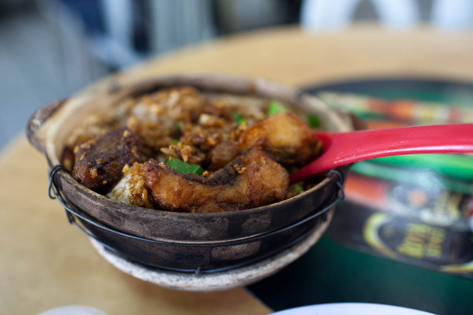 hot pot fish rice