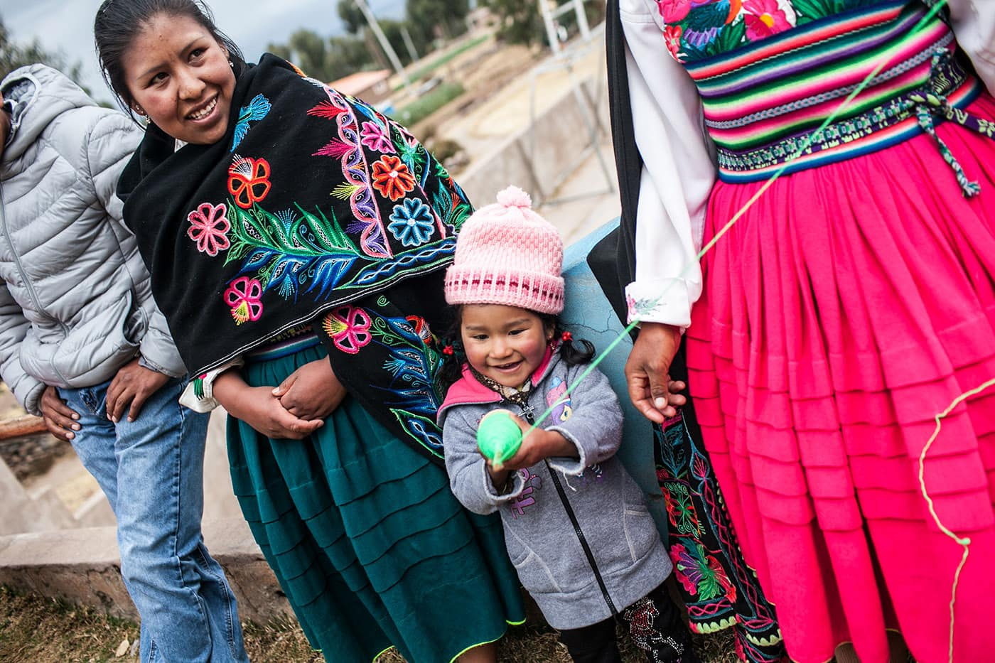 Families on Amantani - Lake Titicaca Peru