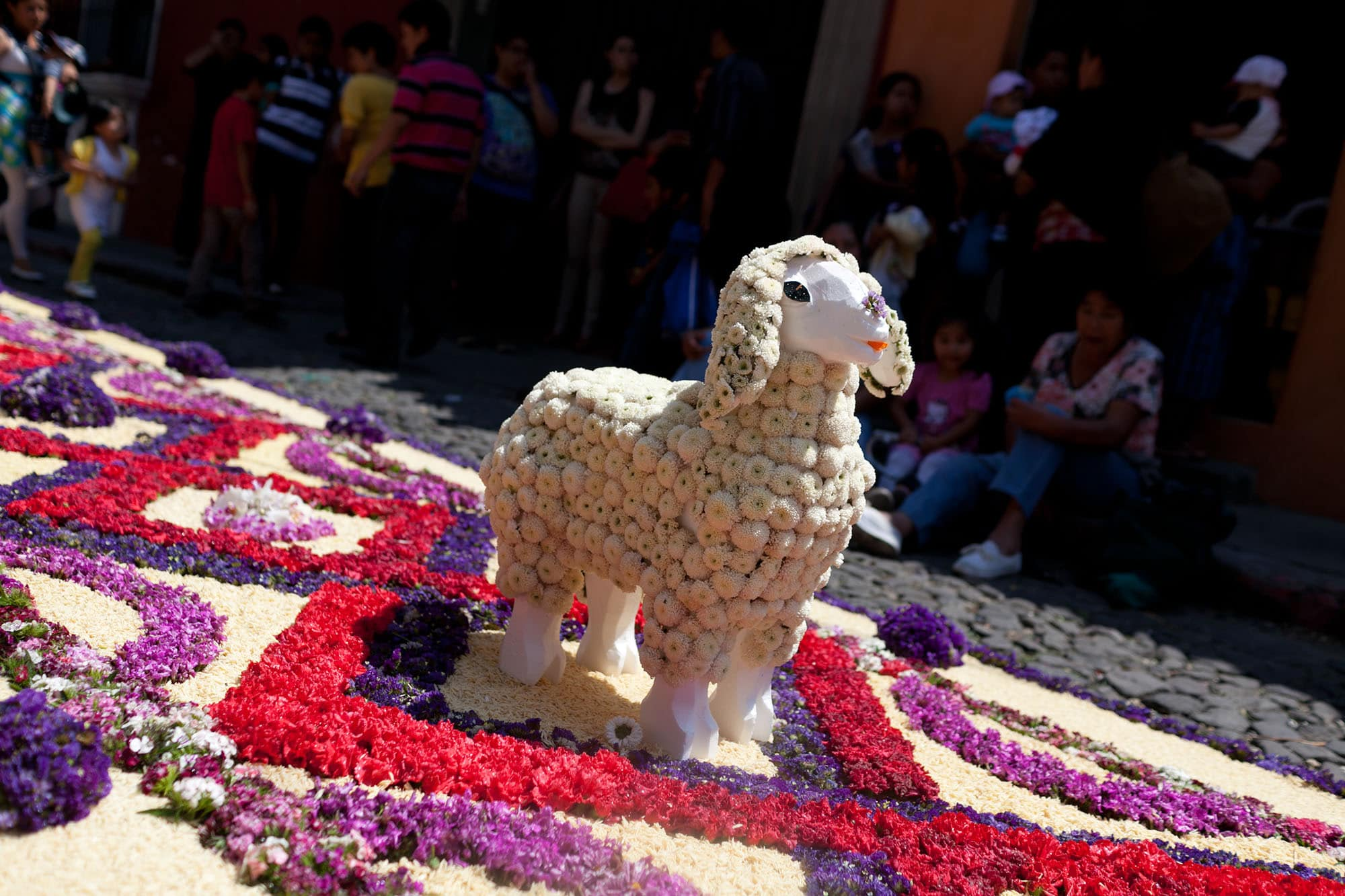 Alfombras de Semana Santa  for Lent Processions in Antigua, Guatemala.