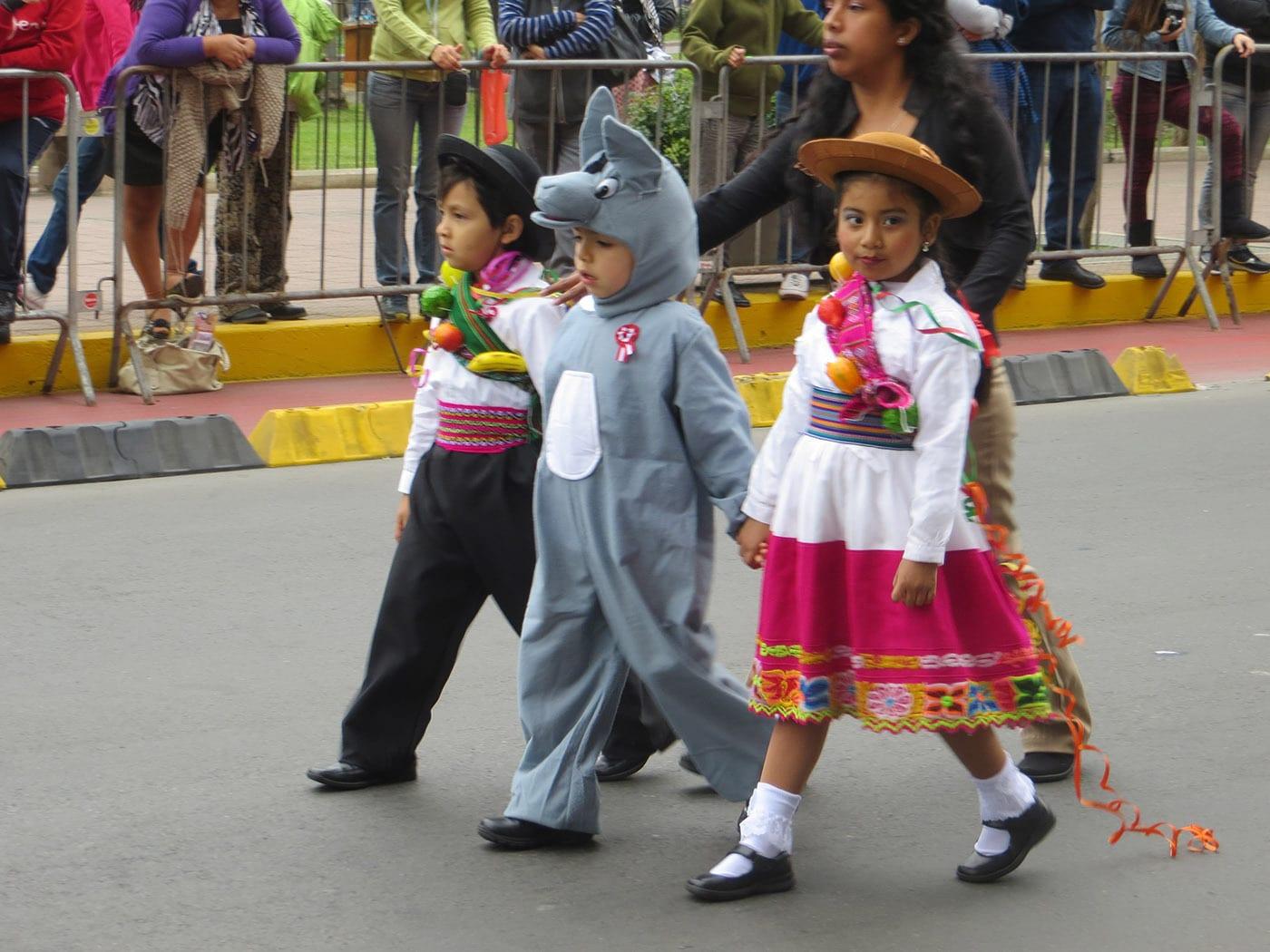 P parade Lima, Peru