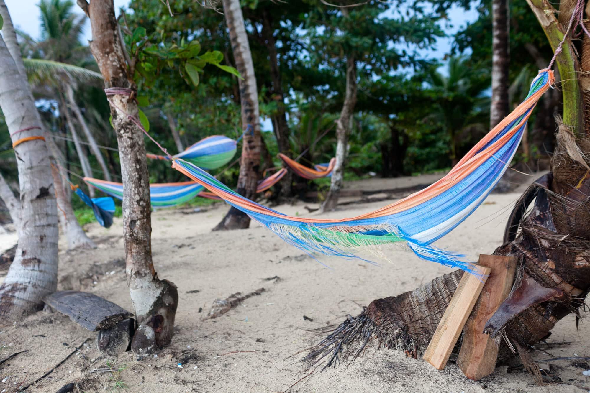 Hammocks on Little Corn Island, Nicaragua