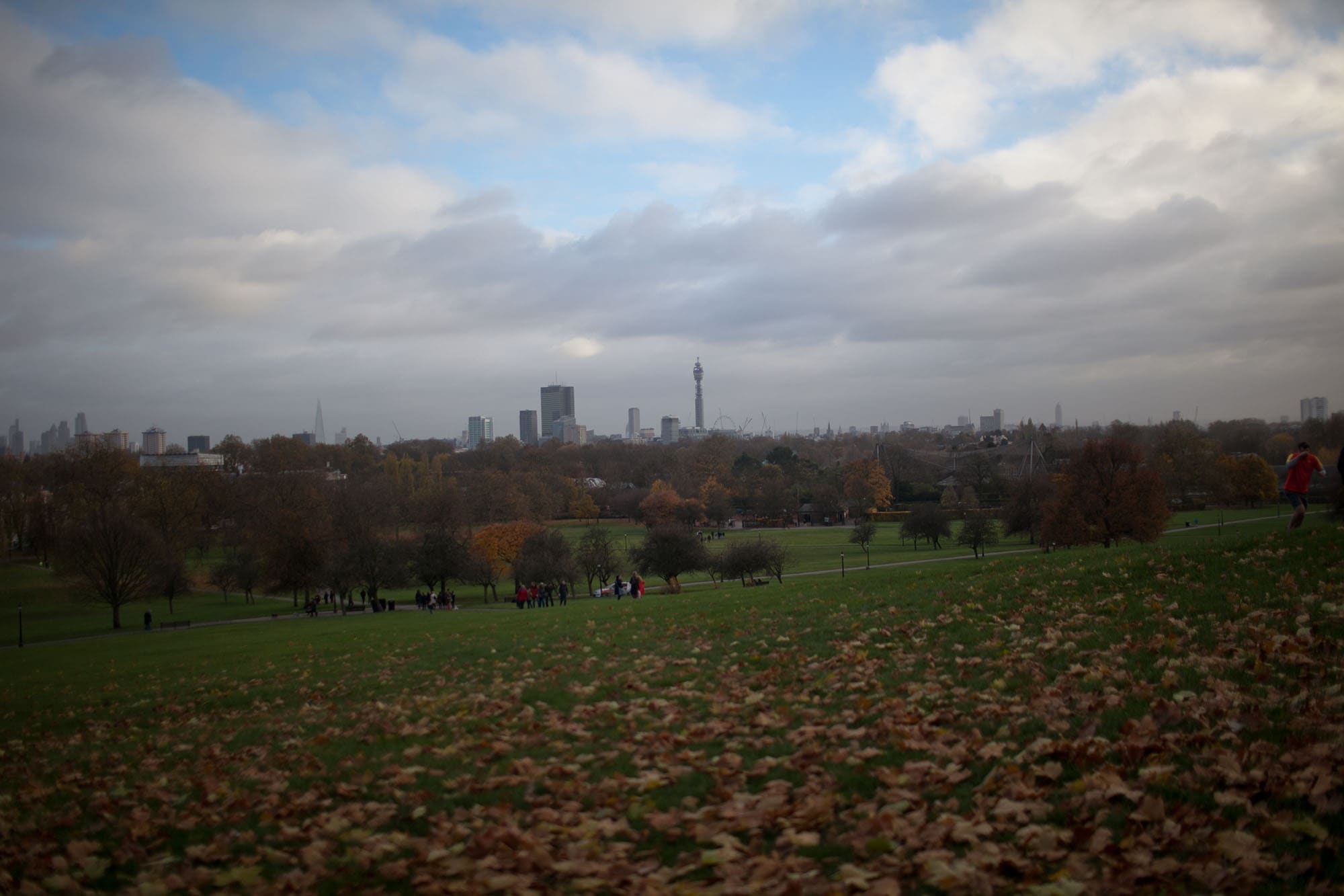 View of the city from Primrose Hill in London, England