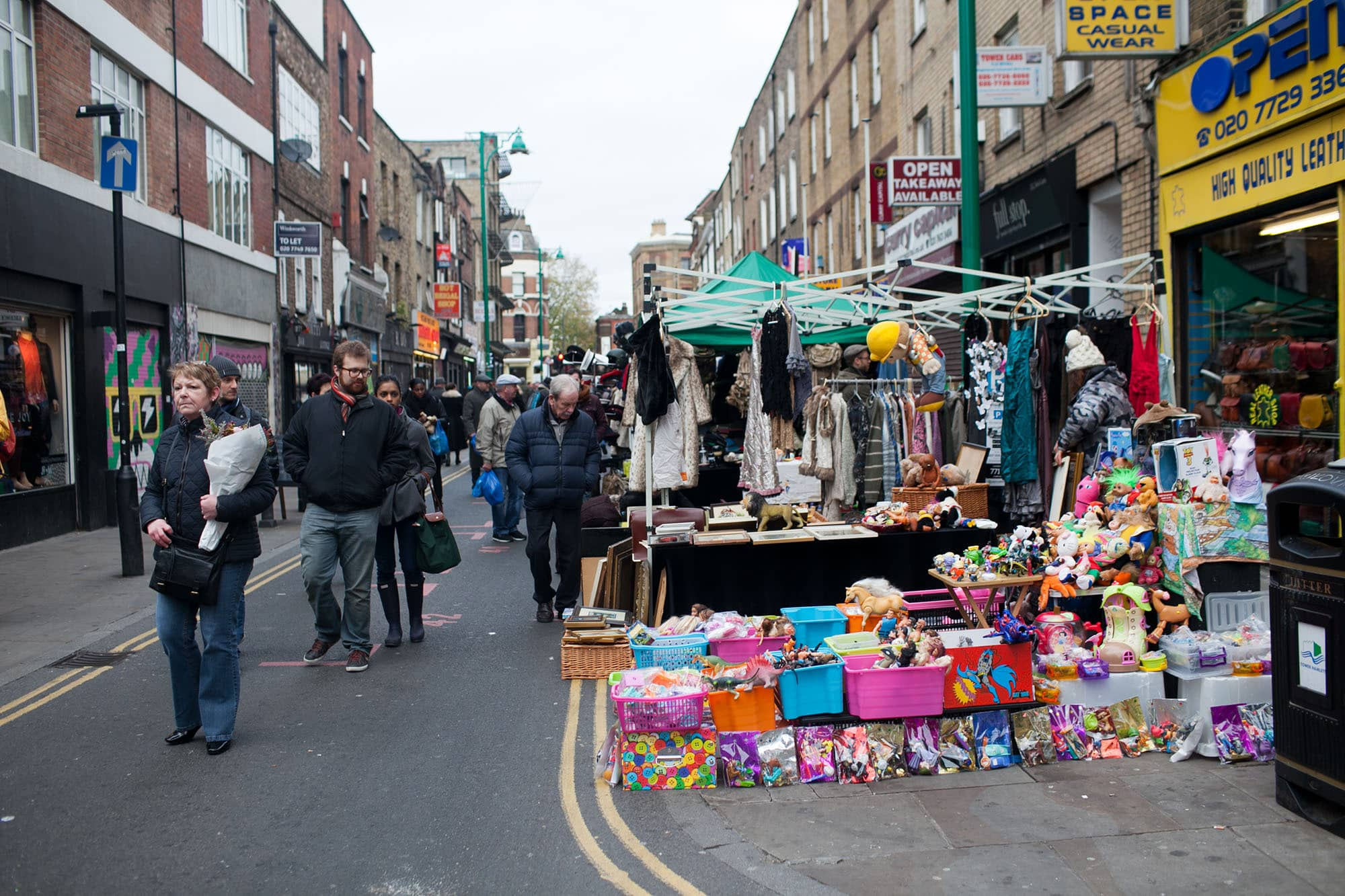 Brick Lane Market in London, England