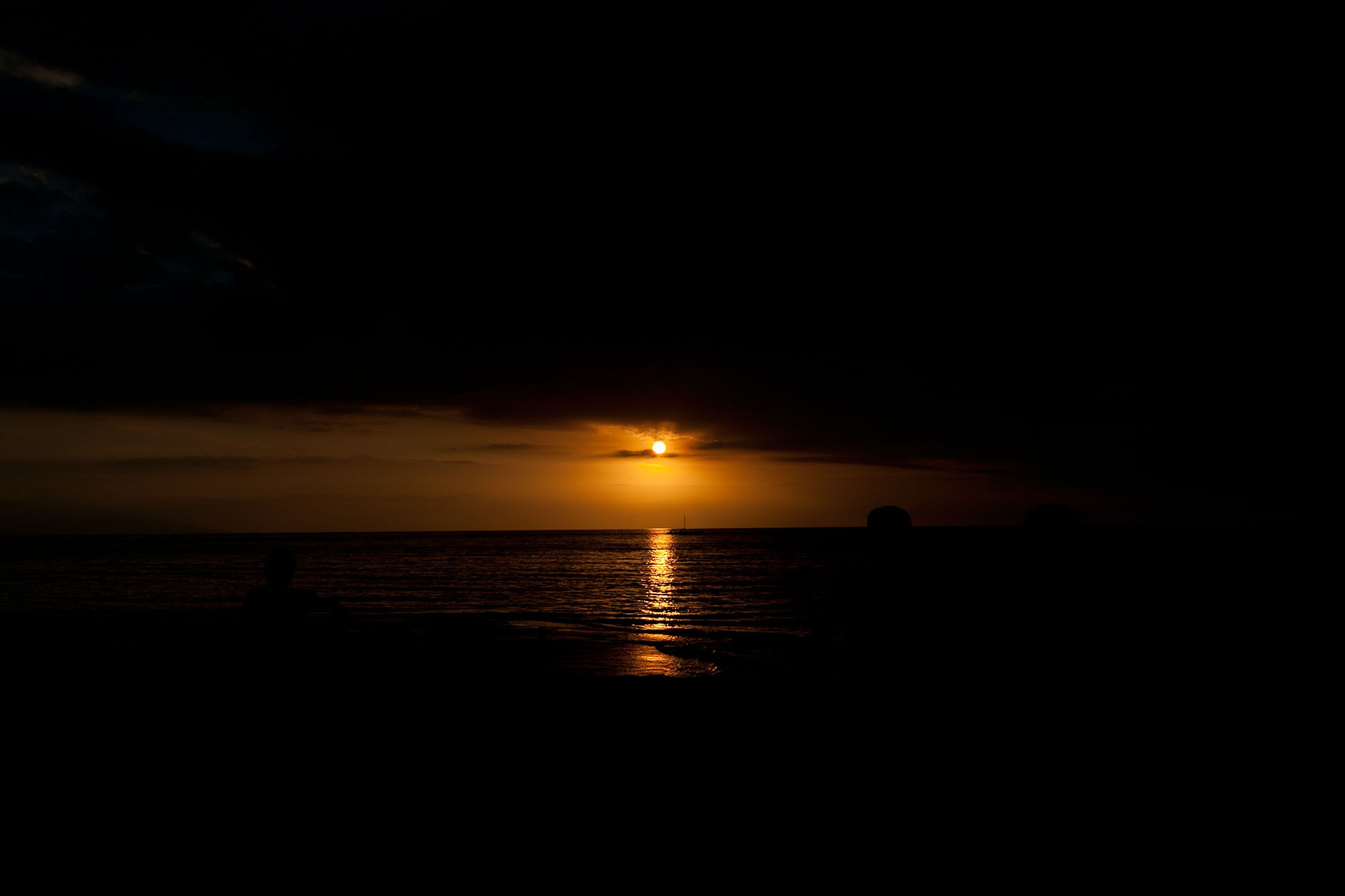 Sunset in Lovina, Bali, Indonesia