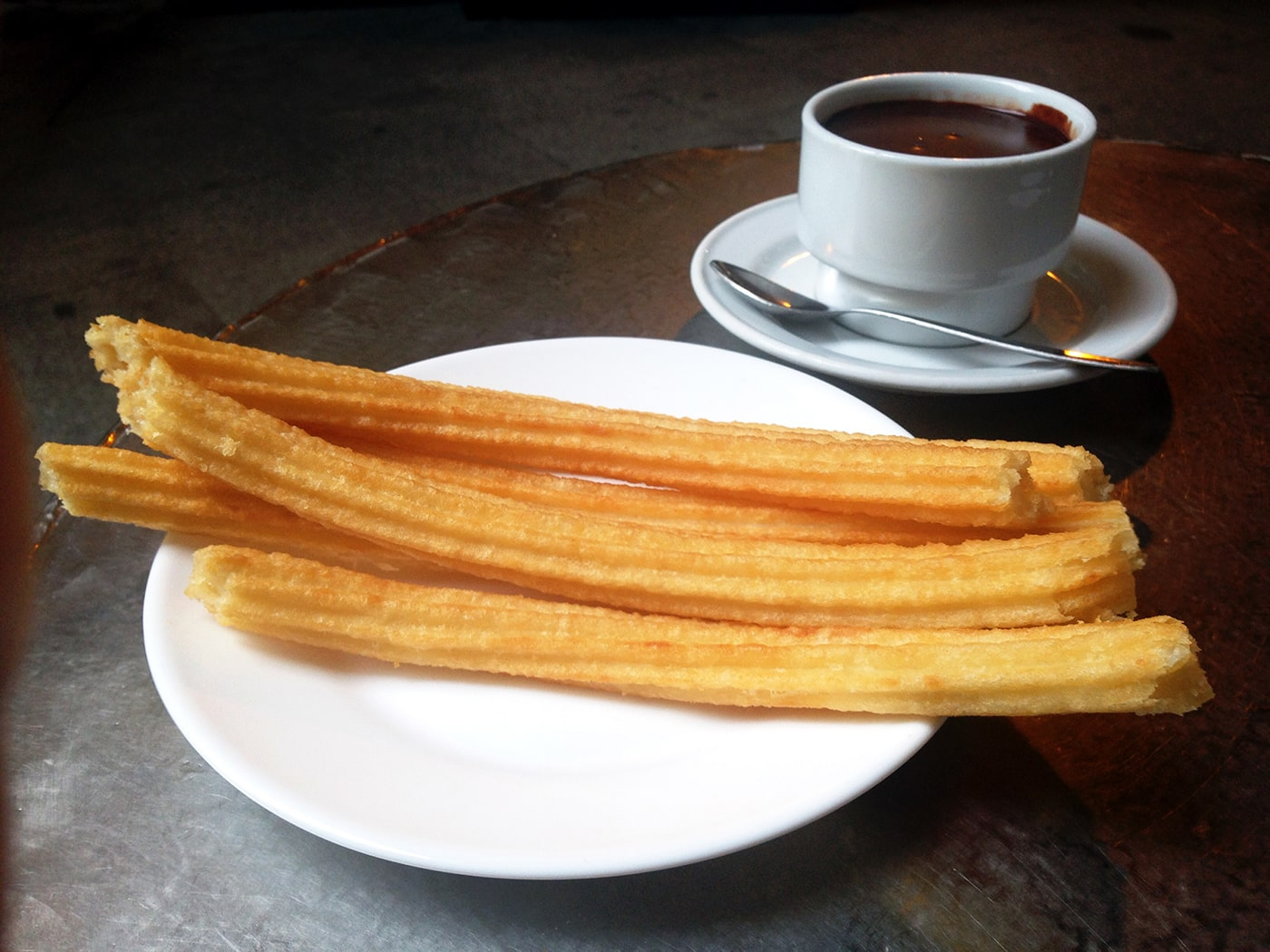 Chocolate con churros in Madrid, Spain