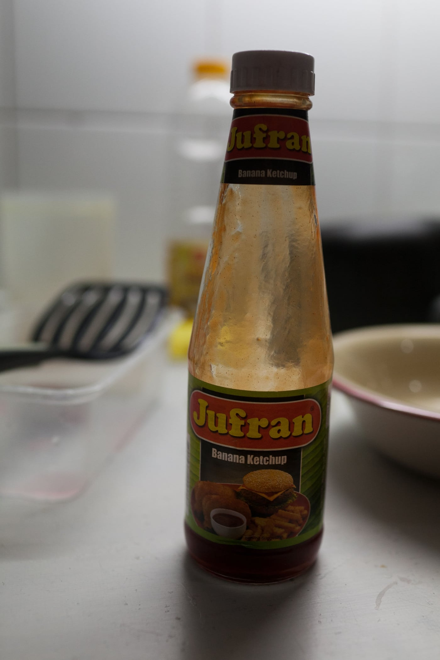 Banana ketchup from the Philippines.
