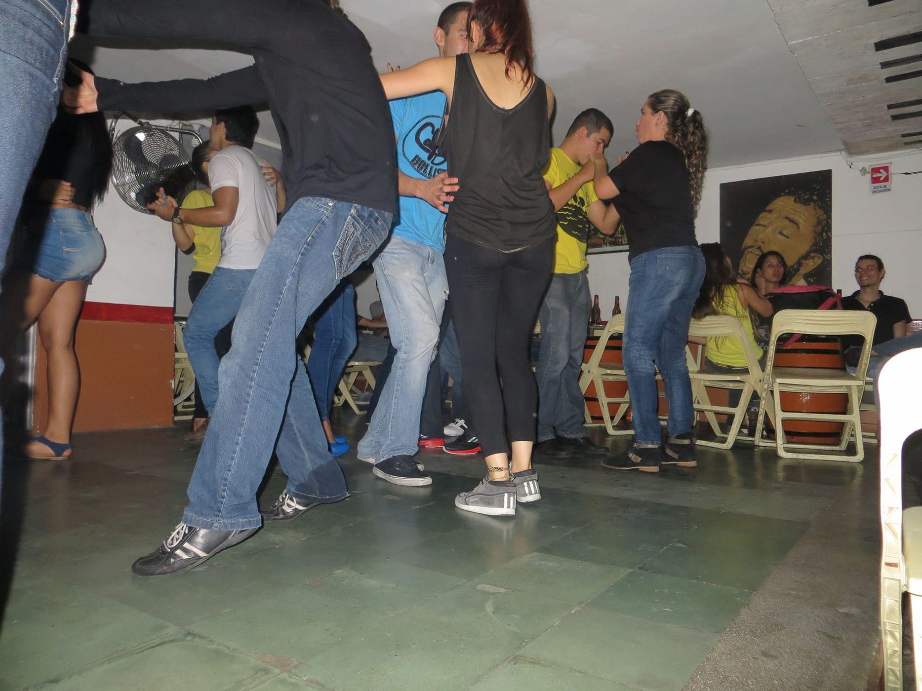 Salsa dancing in Medellin, Colombia