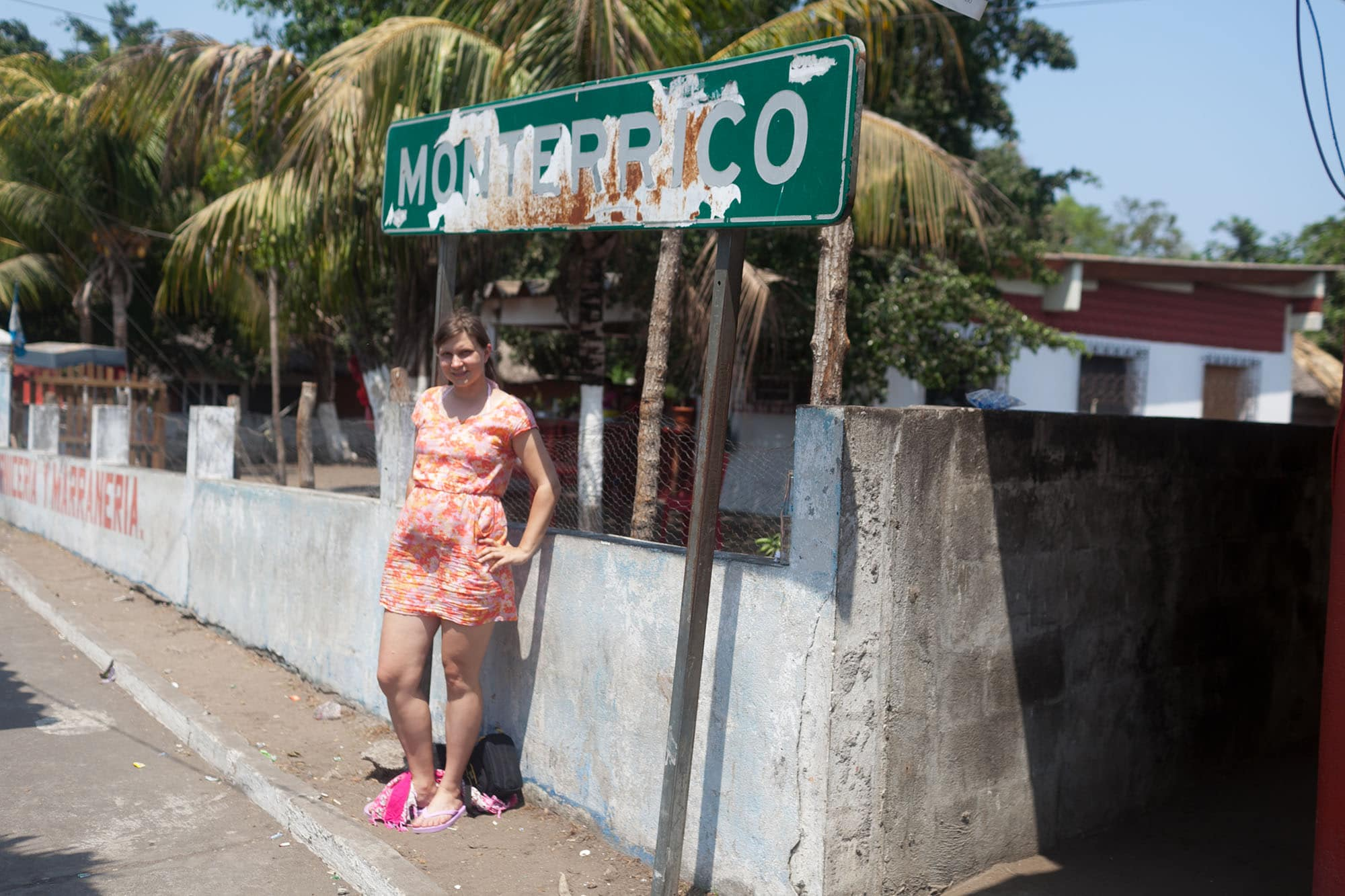 Wandering town at Monterrico Beach in Guatemala