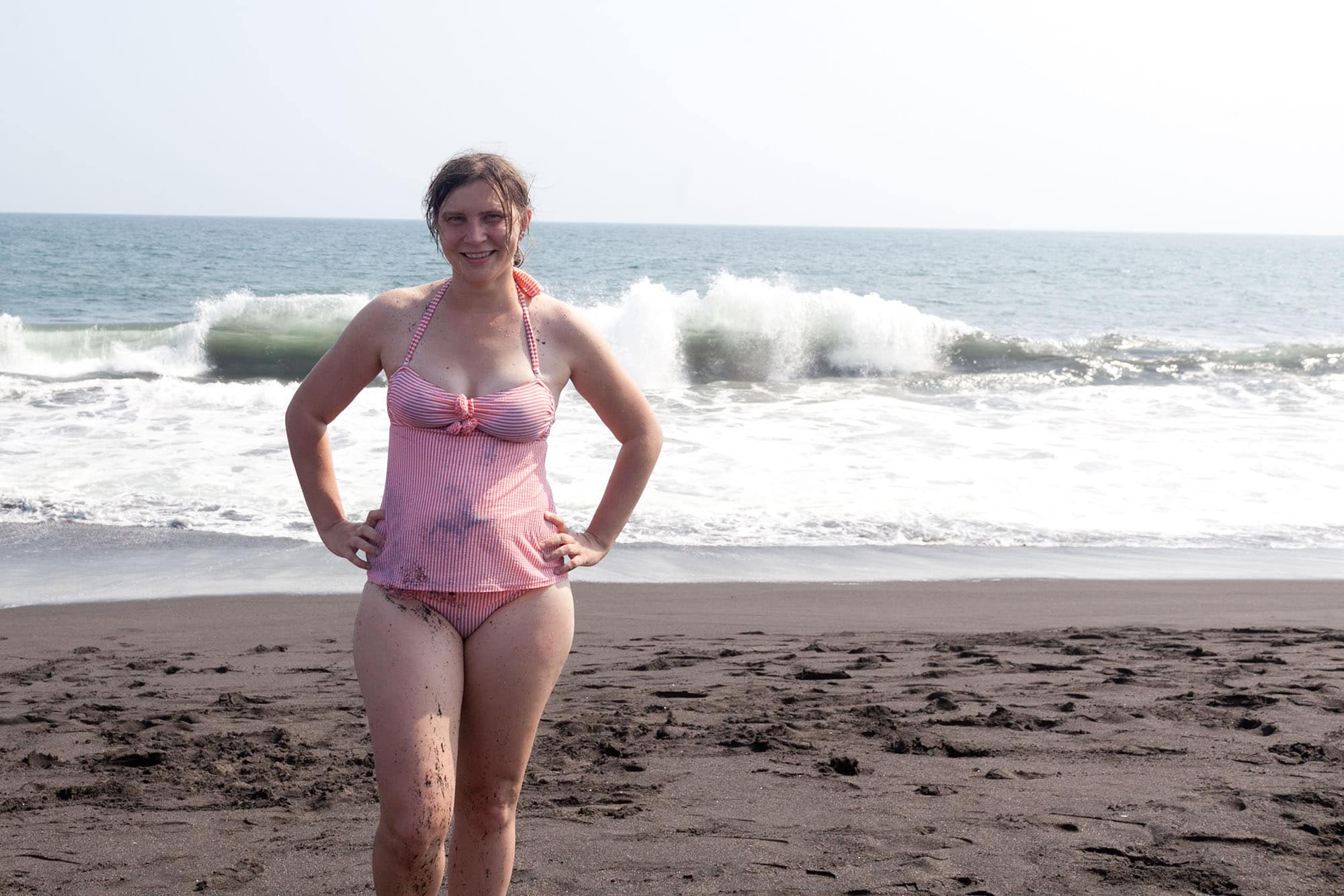 Me at Monterrico Beach in Guatemala