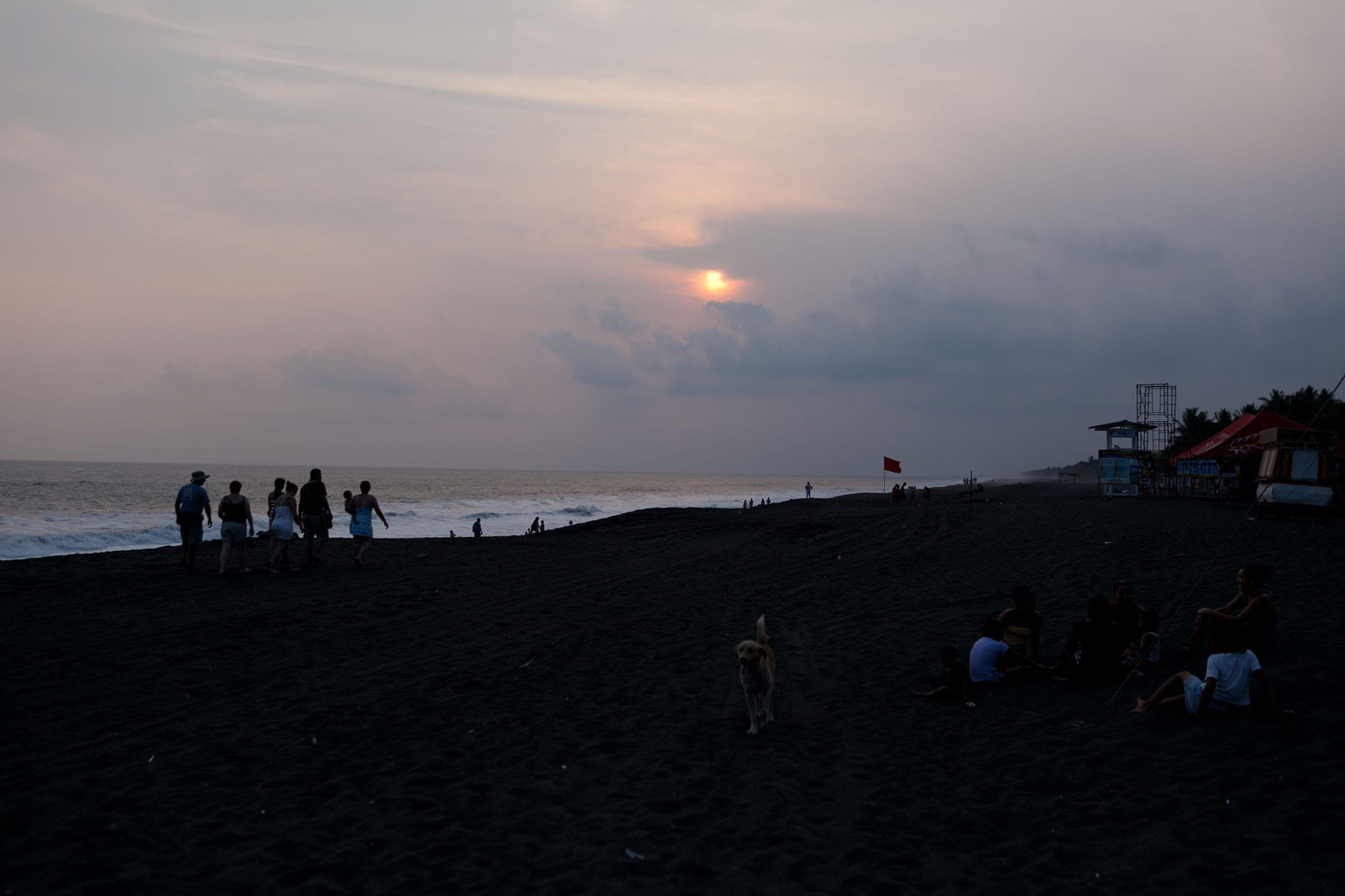 Sunset at Monterrico Beach in Guatemala