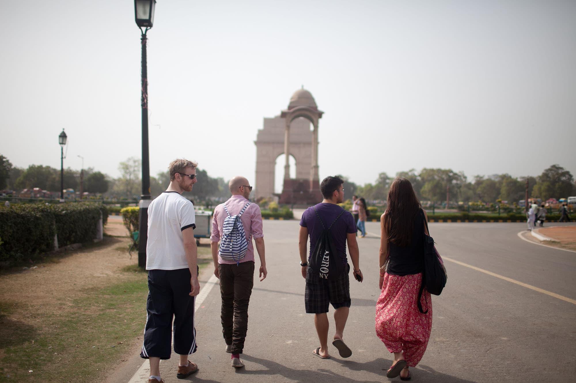India Gate in New Delhi, India.