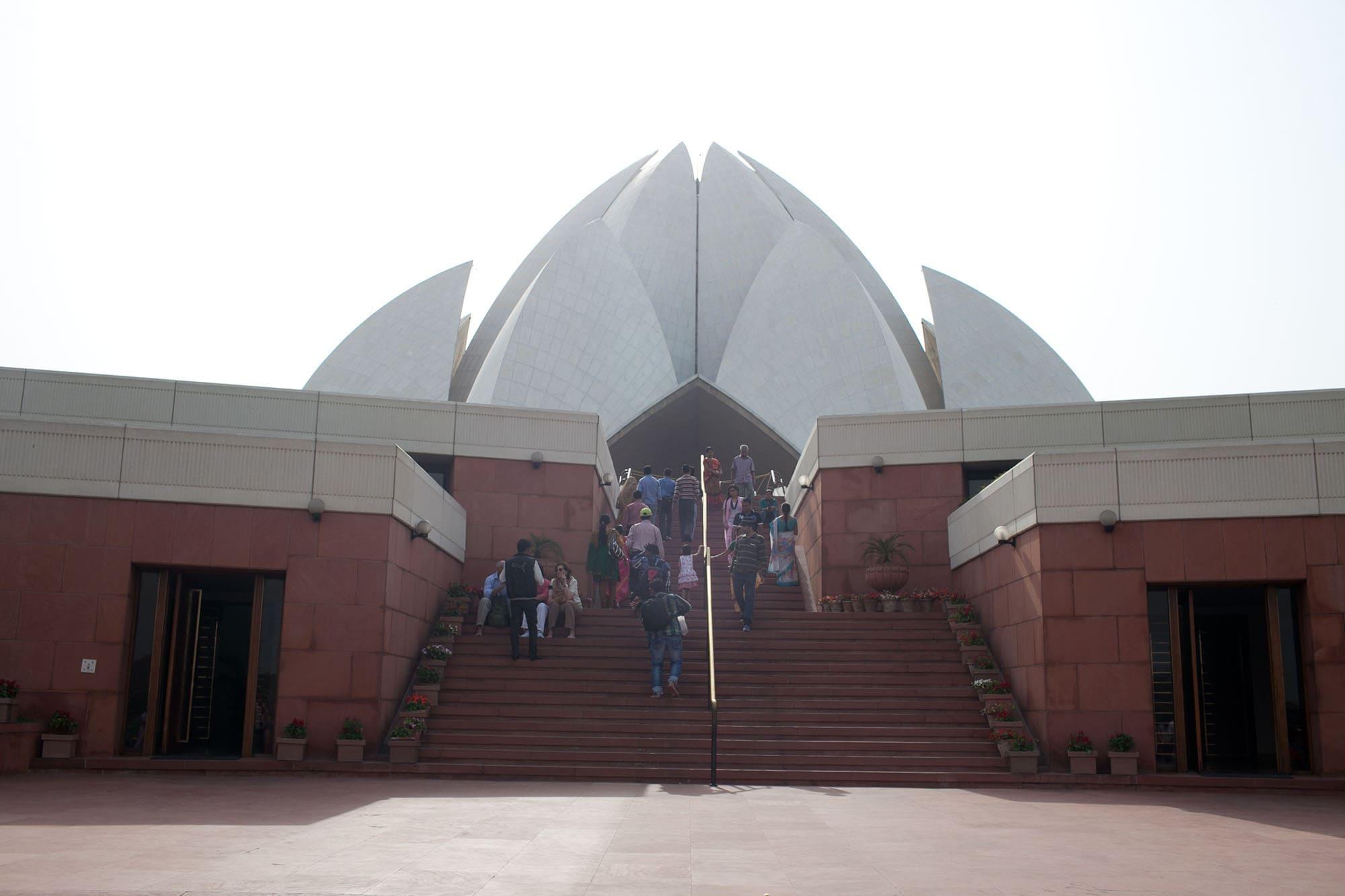 Bahá'í House of Worship - Lotus Temple -  in New Delhi, India.