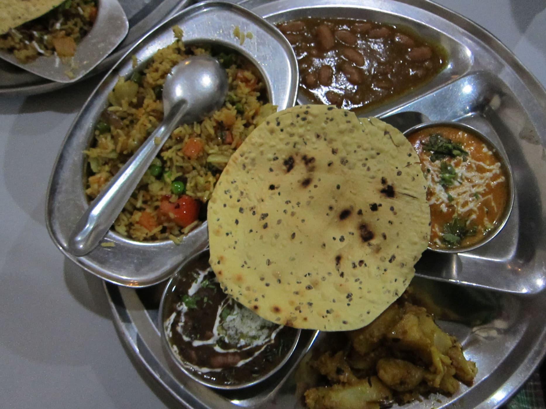 Thali in New Delhi, India.
