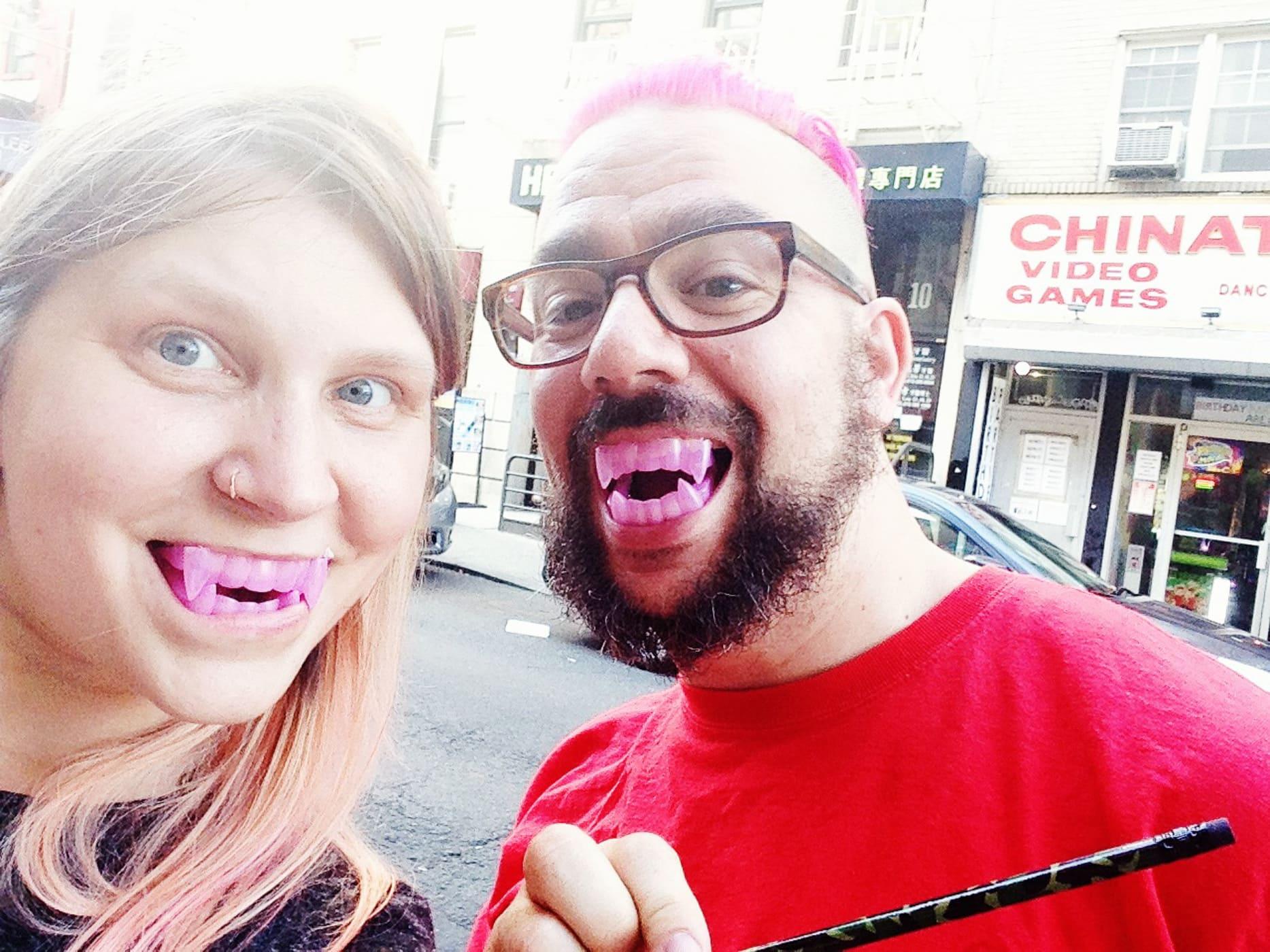 Vampire teeth prize at Chinatown Arcade