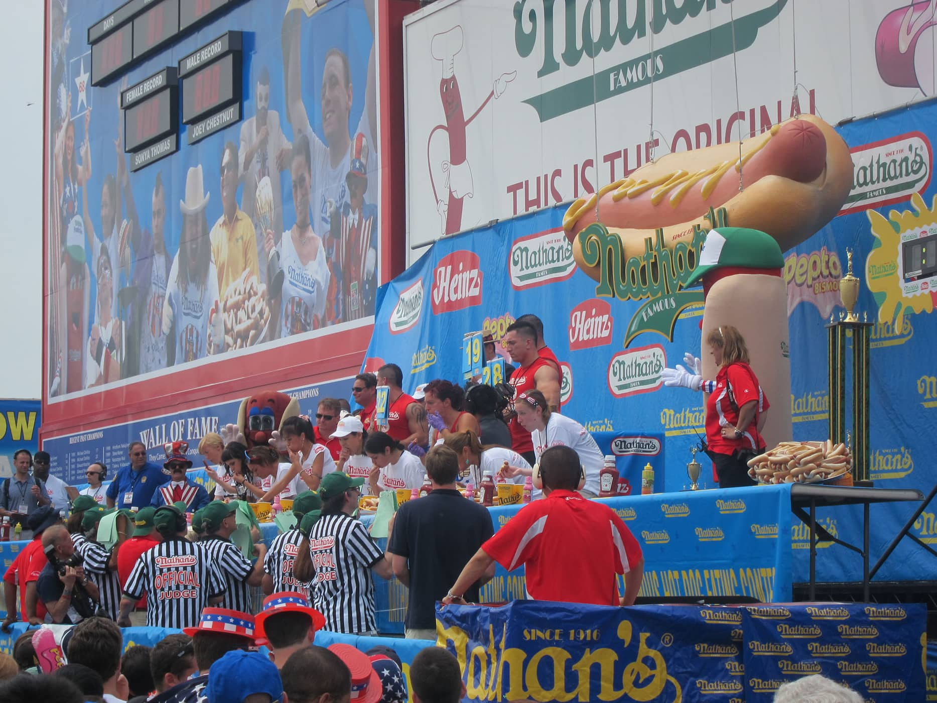 Women's division at the Nathan's Fourth of July hot dog eating contest