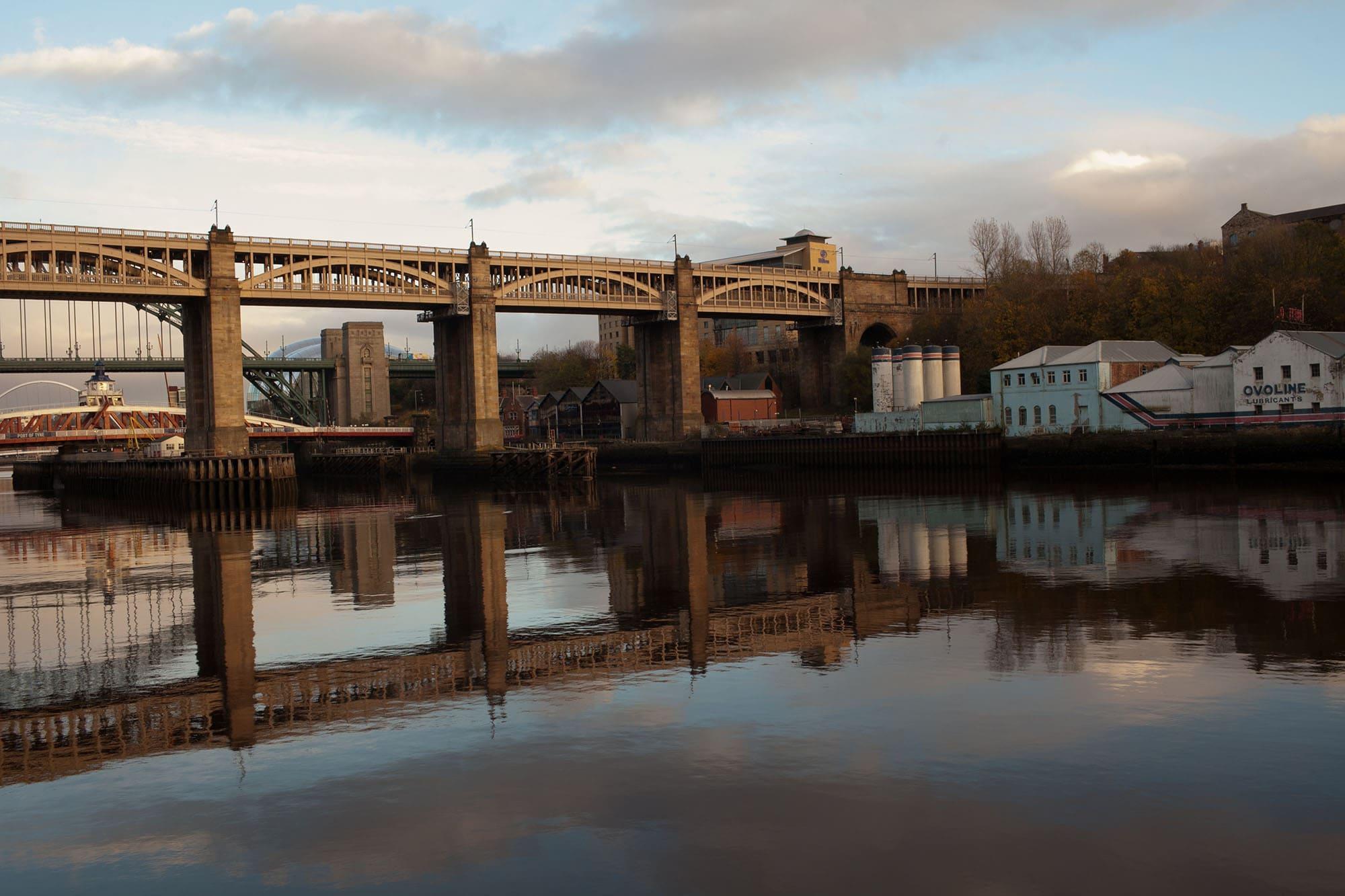 High Level Bridge in Newcastle, England