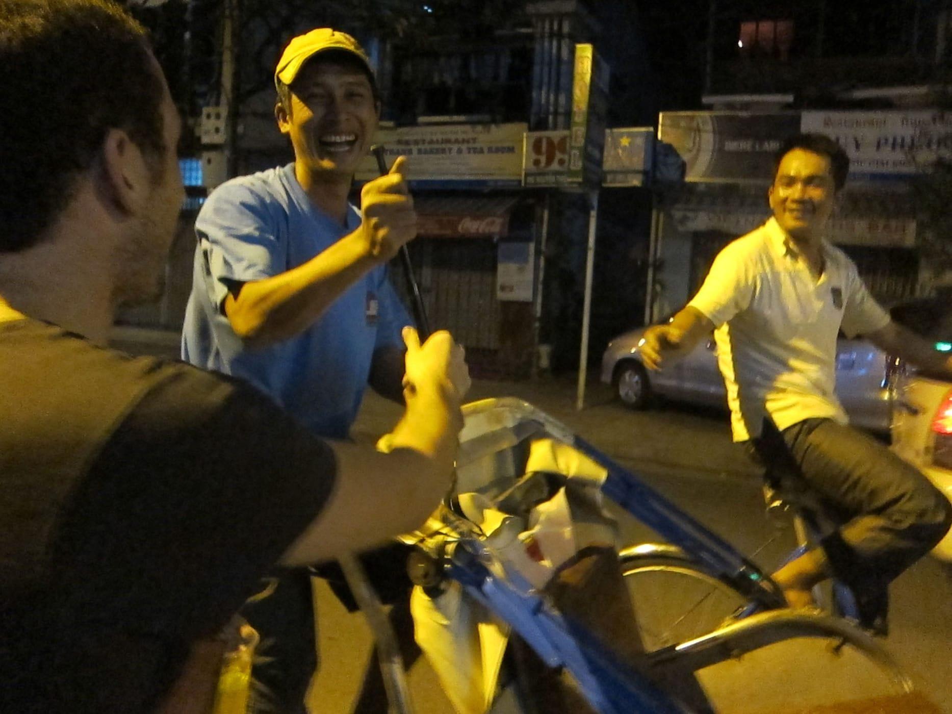 Cyclo crash in Nha Trang, Vietnam