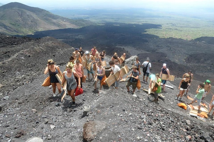 Bigfoot Hostel Volcano Boarding in Leon, Nicaragua