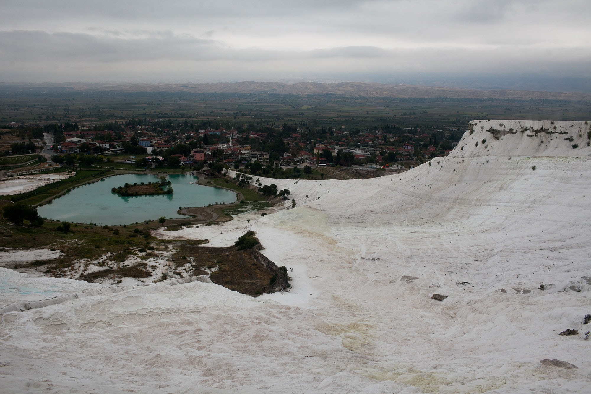 Travertines in Pamukkale, Turkey