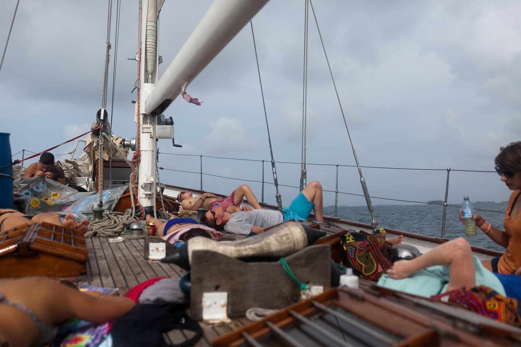 Sailing from Panama to Colombia. Sailing trip from Panama to Cartagena, Colombia on the Gitana III