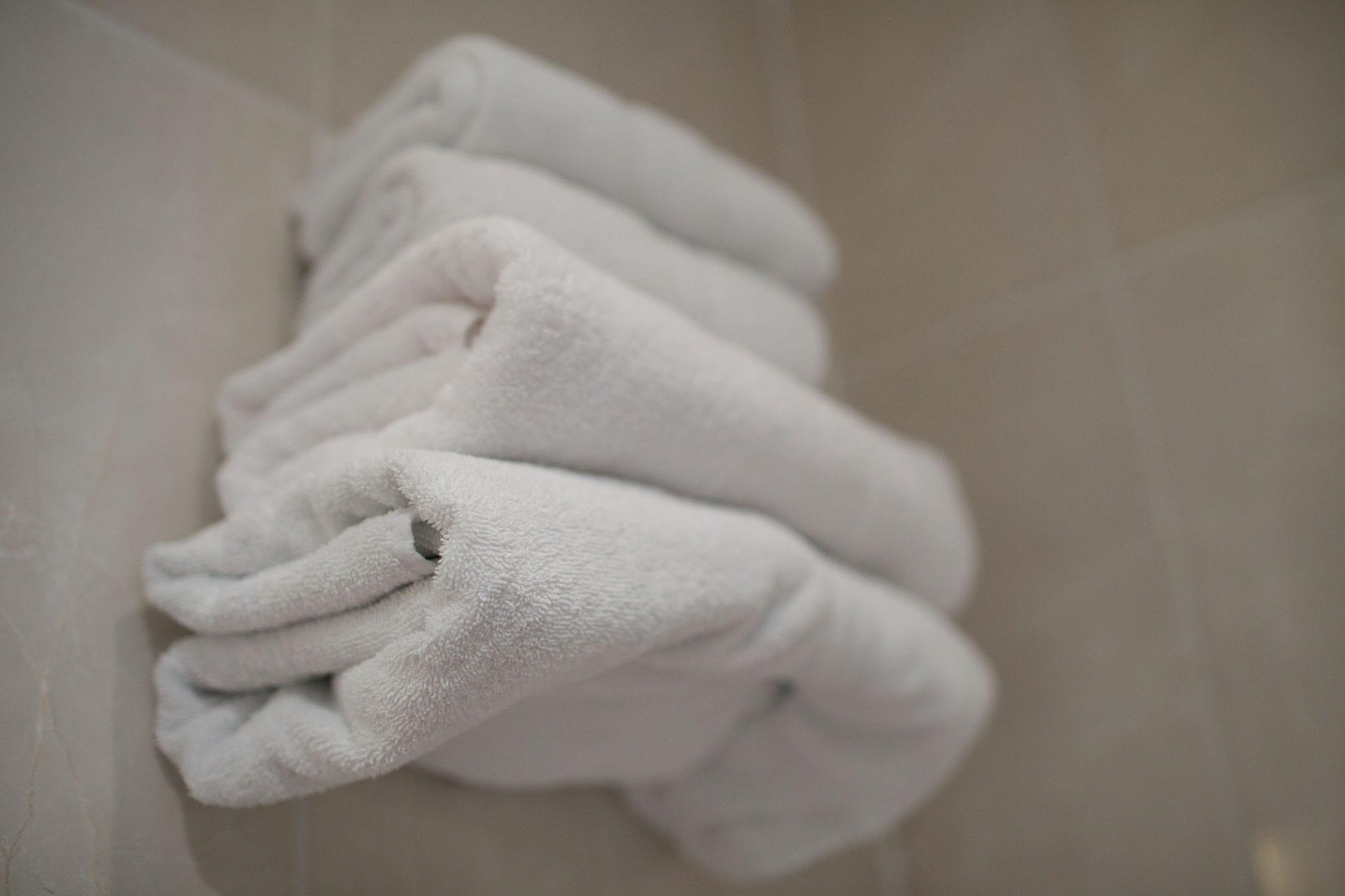 Towels in my Paris hotel room.