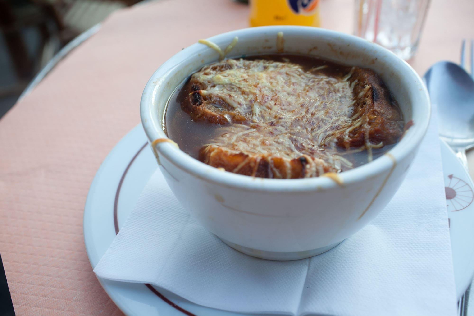 Onion soup in Paris