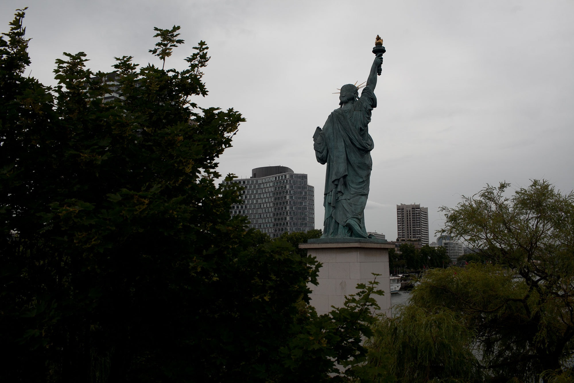 Statue of Liberty in Paris | I love Paris when it drizzles.
