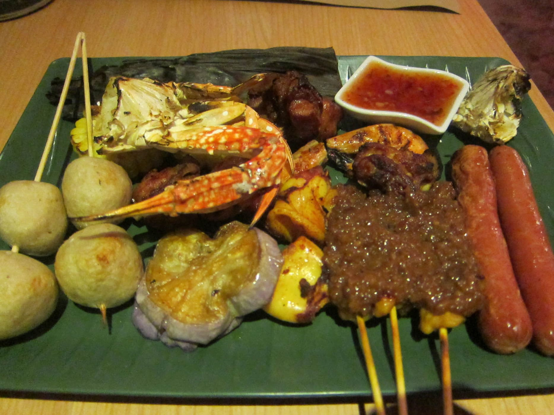 hostel dinner in Penang, Malaysia