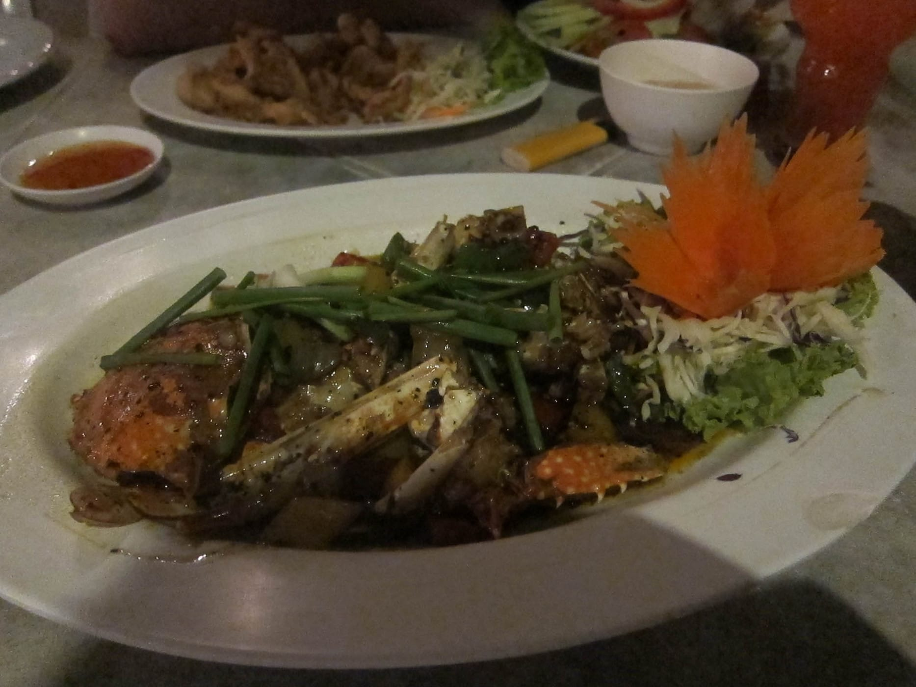 Black pepper crab on Phi Phi island