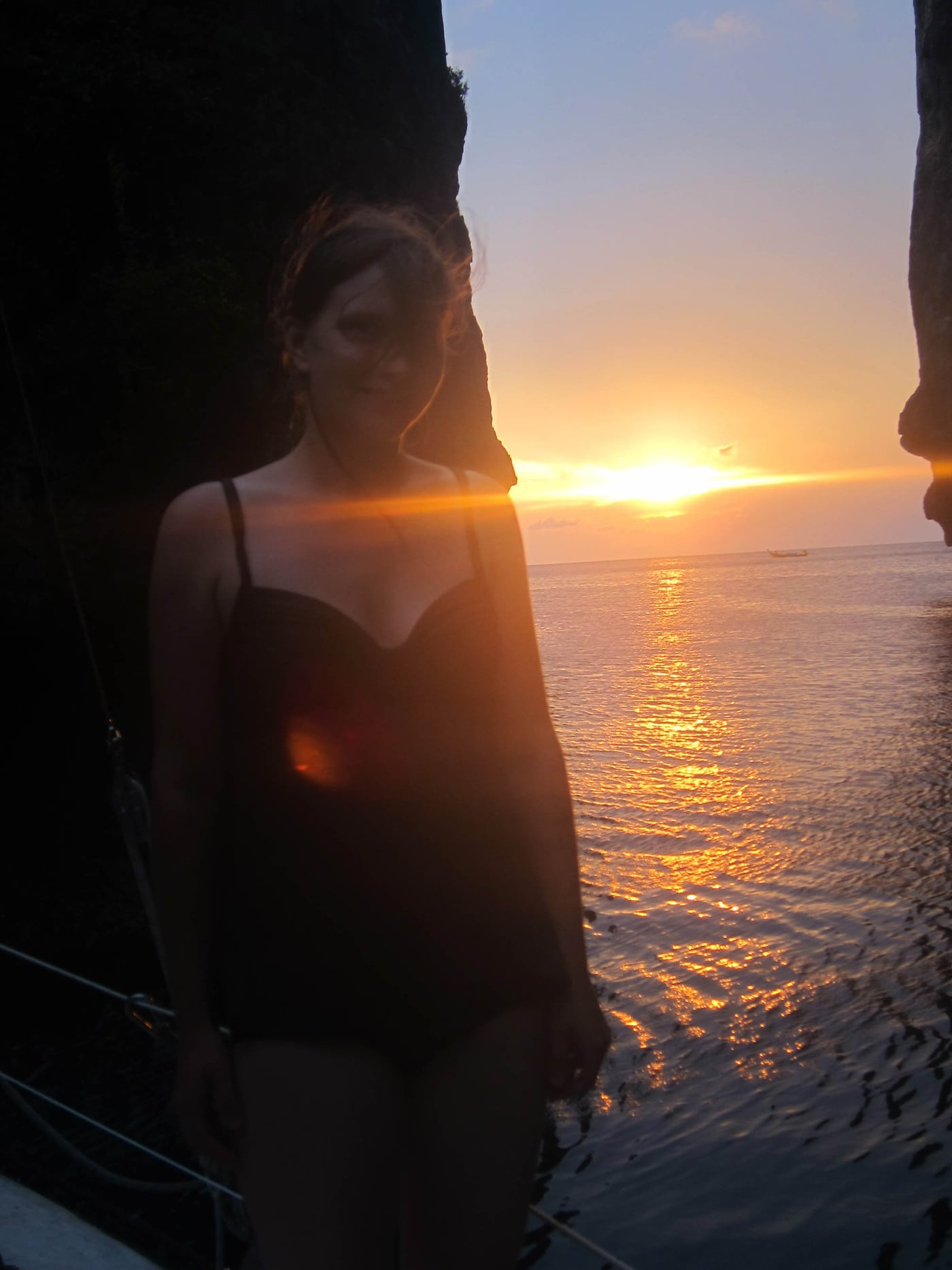 Wang Long Bay, The Kissing Rock Faces, at sunset, Koh Phi Phi Island Booze Cruise