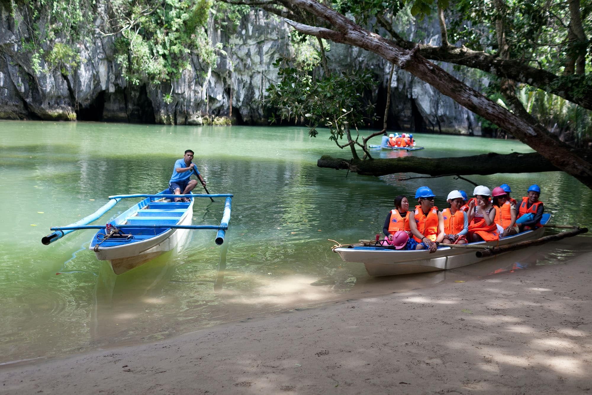 Puerto Princesa Underground River in the Philippines.