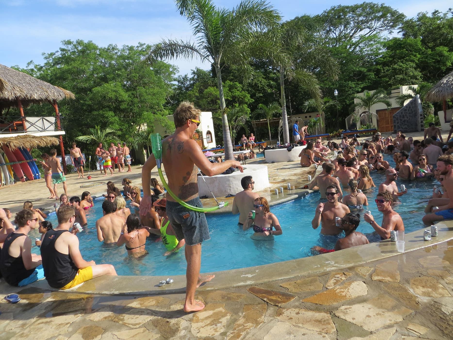 Sunday Funday Pool Crawl in San Juan Del Sur, Nicaragua