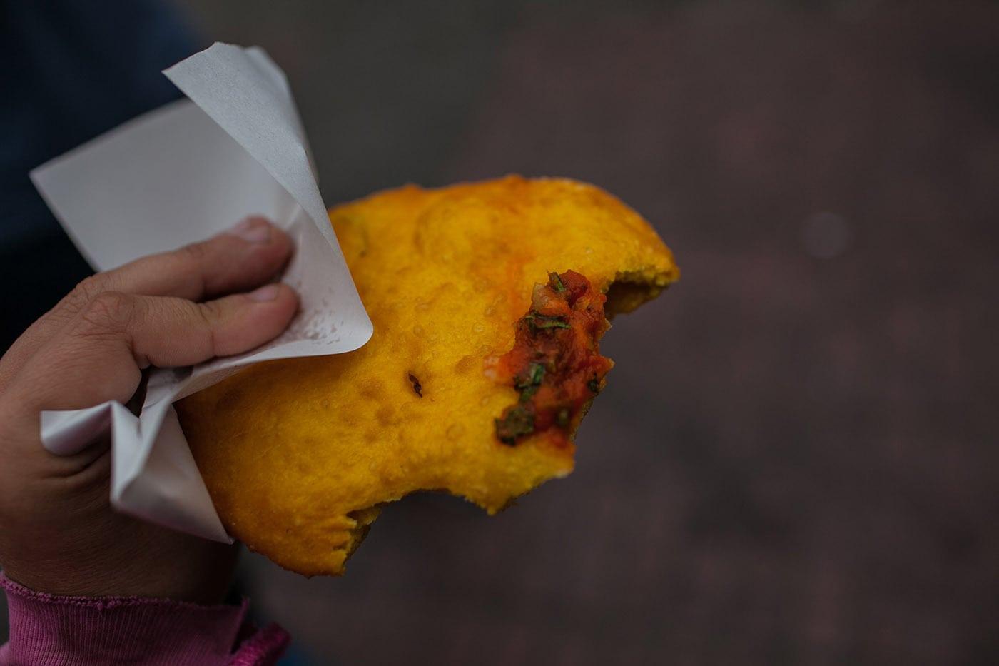 Sopapilla in Santiago, Chile