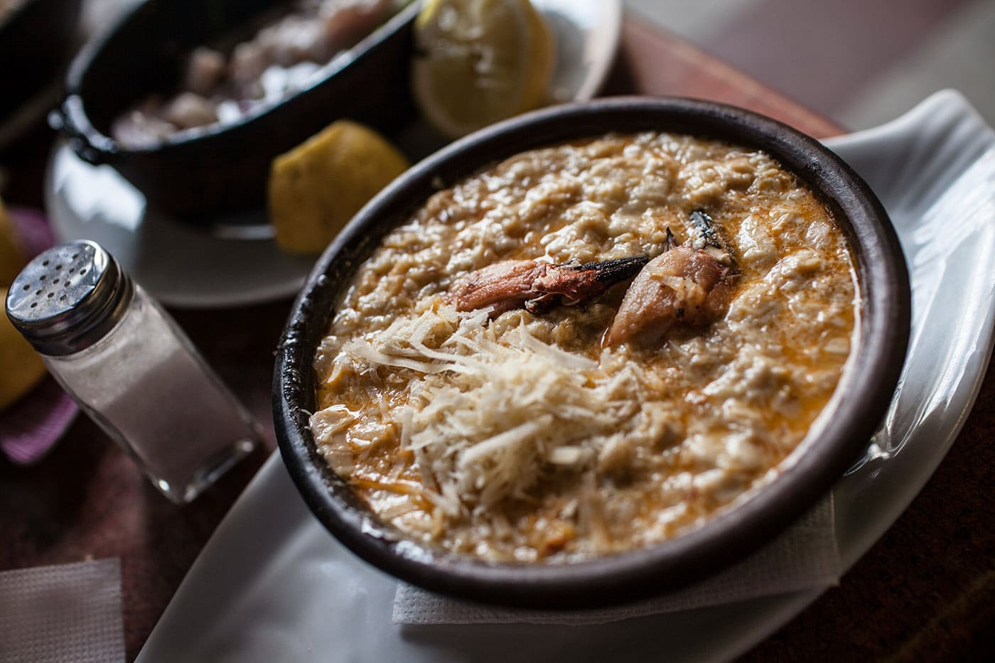 Pastel de Jaibas - crab casserole - in Santiago, Chile