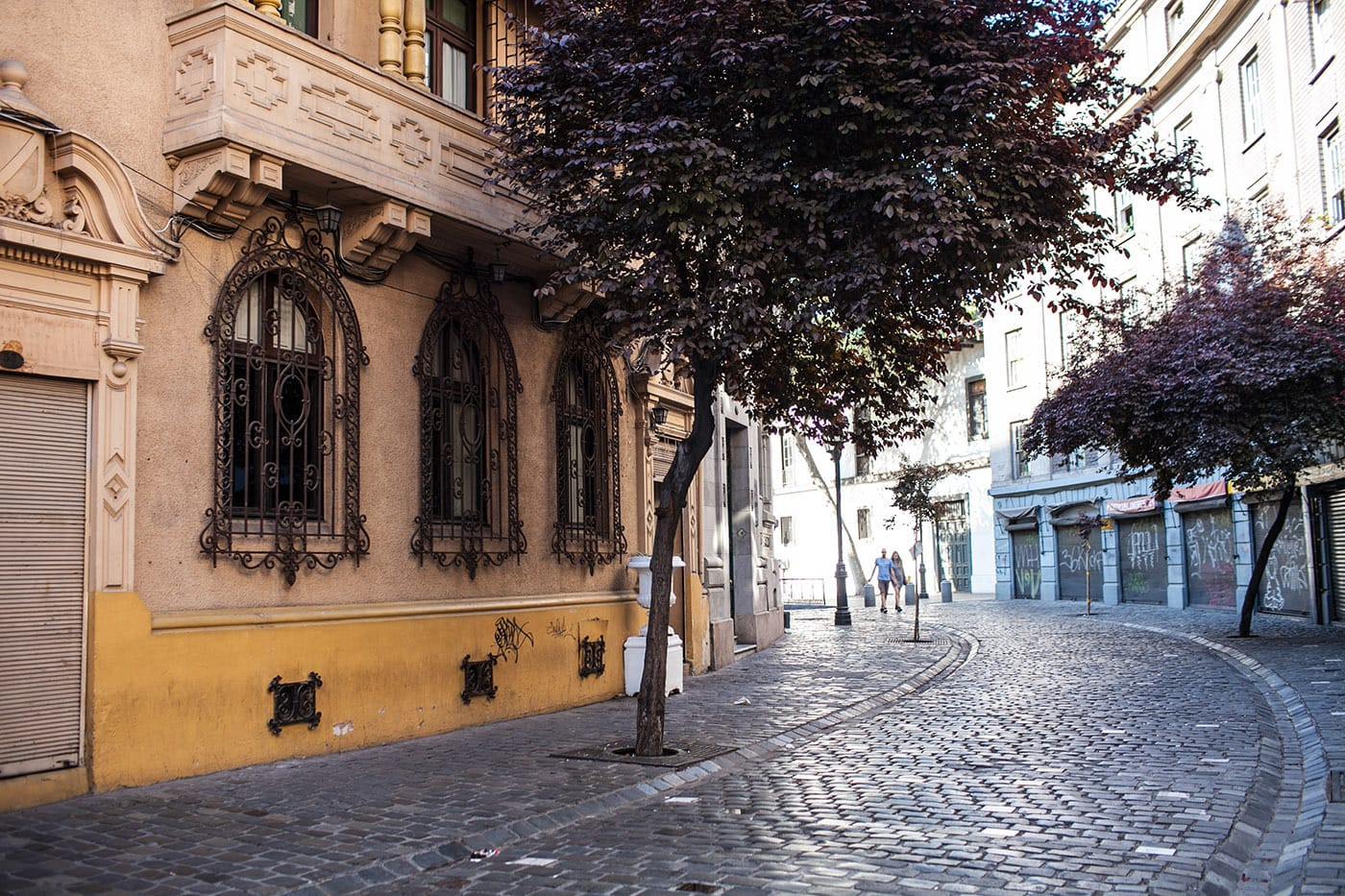 London Street in Santiago, Chile