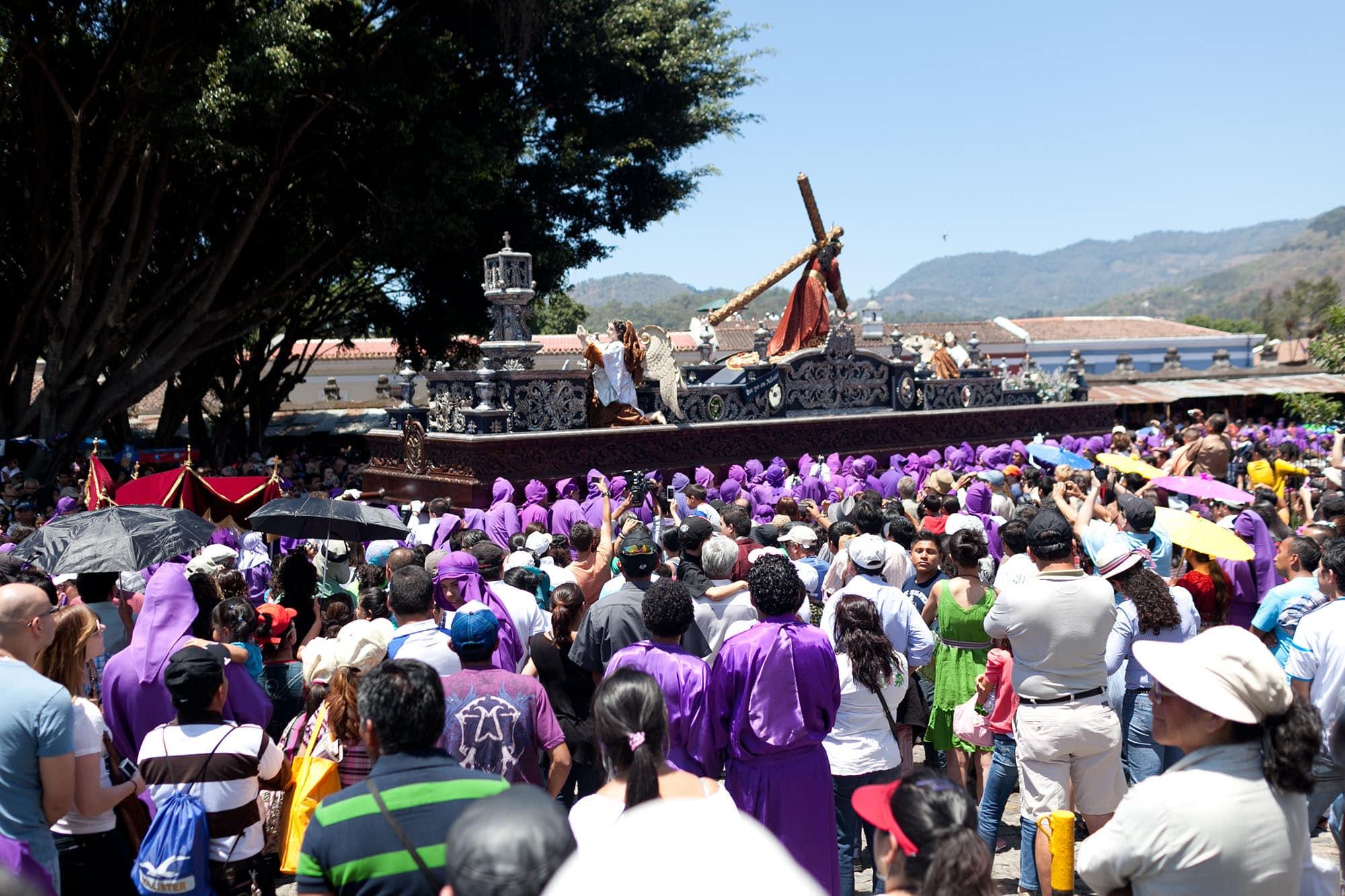 Semana Santa Processions in Antingua, Guatemala.