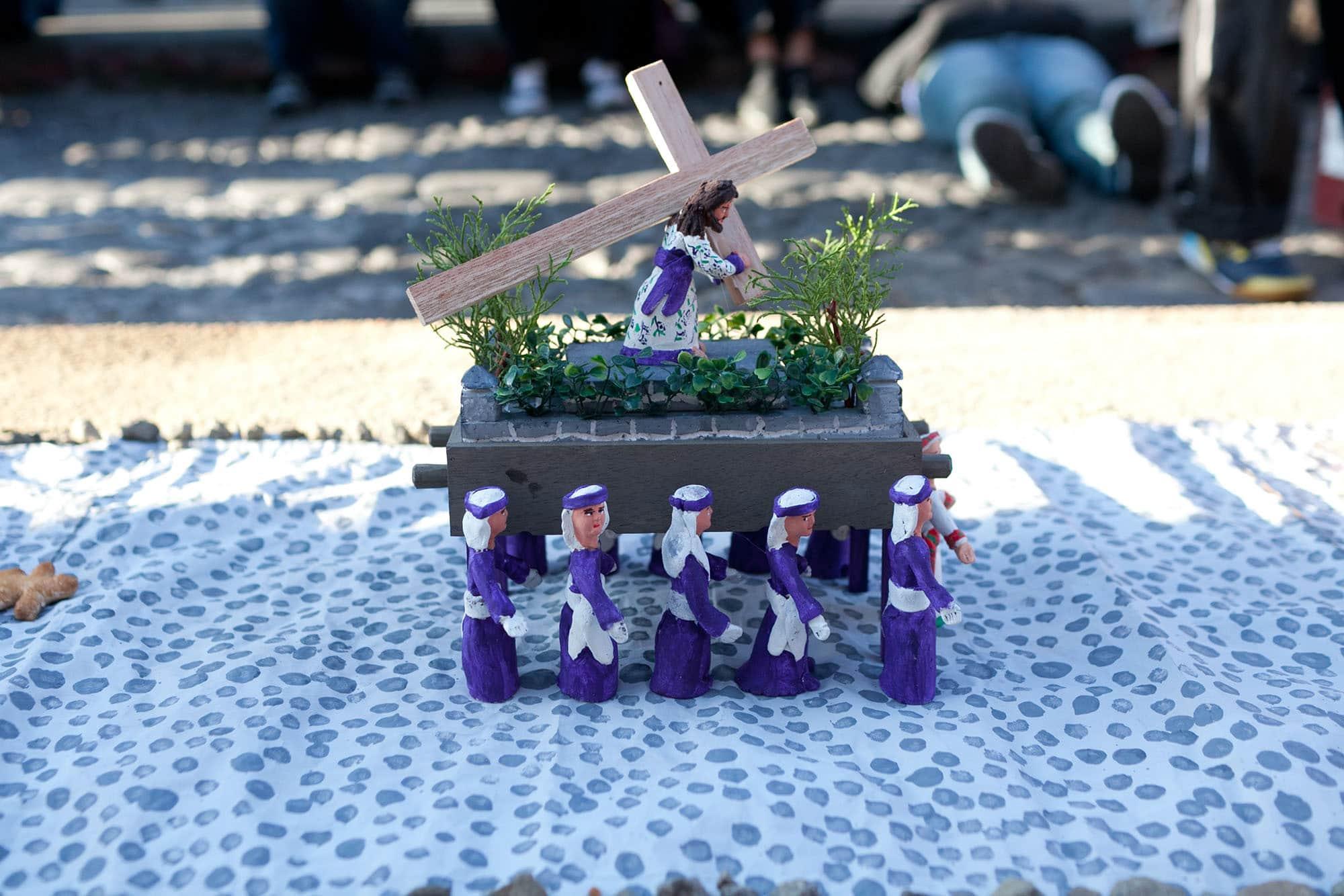 Alfombras de Semana Santa  - Holy Week - in Antigua, Guatemala.