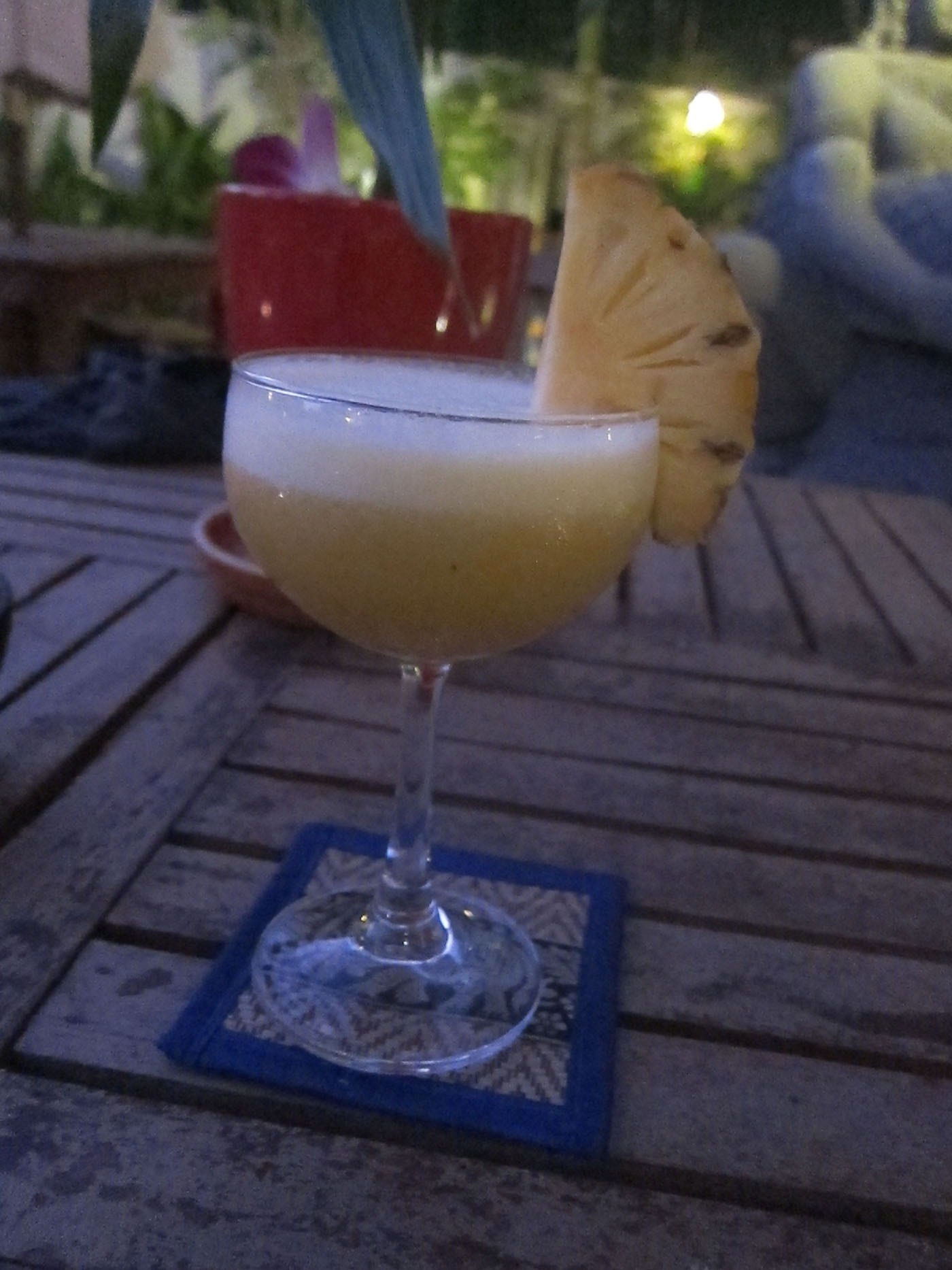 Pineapple daiquiri in Siem Reap, Cambodia