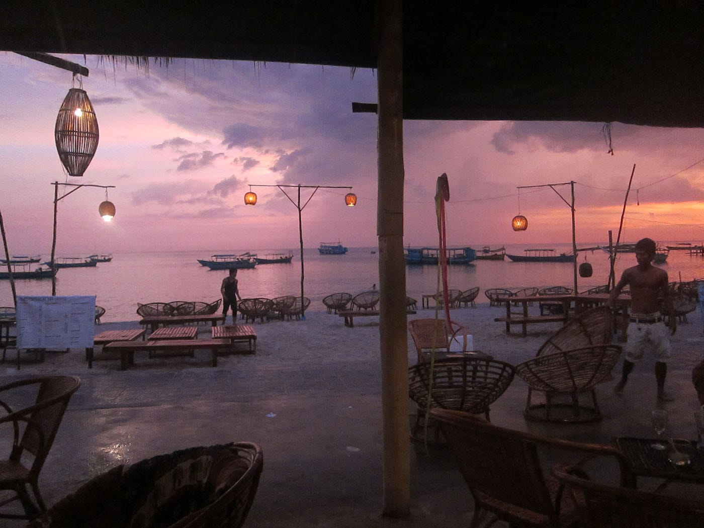 Sunset in Sihanoukville, Cambodia