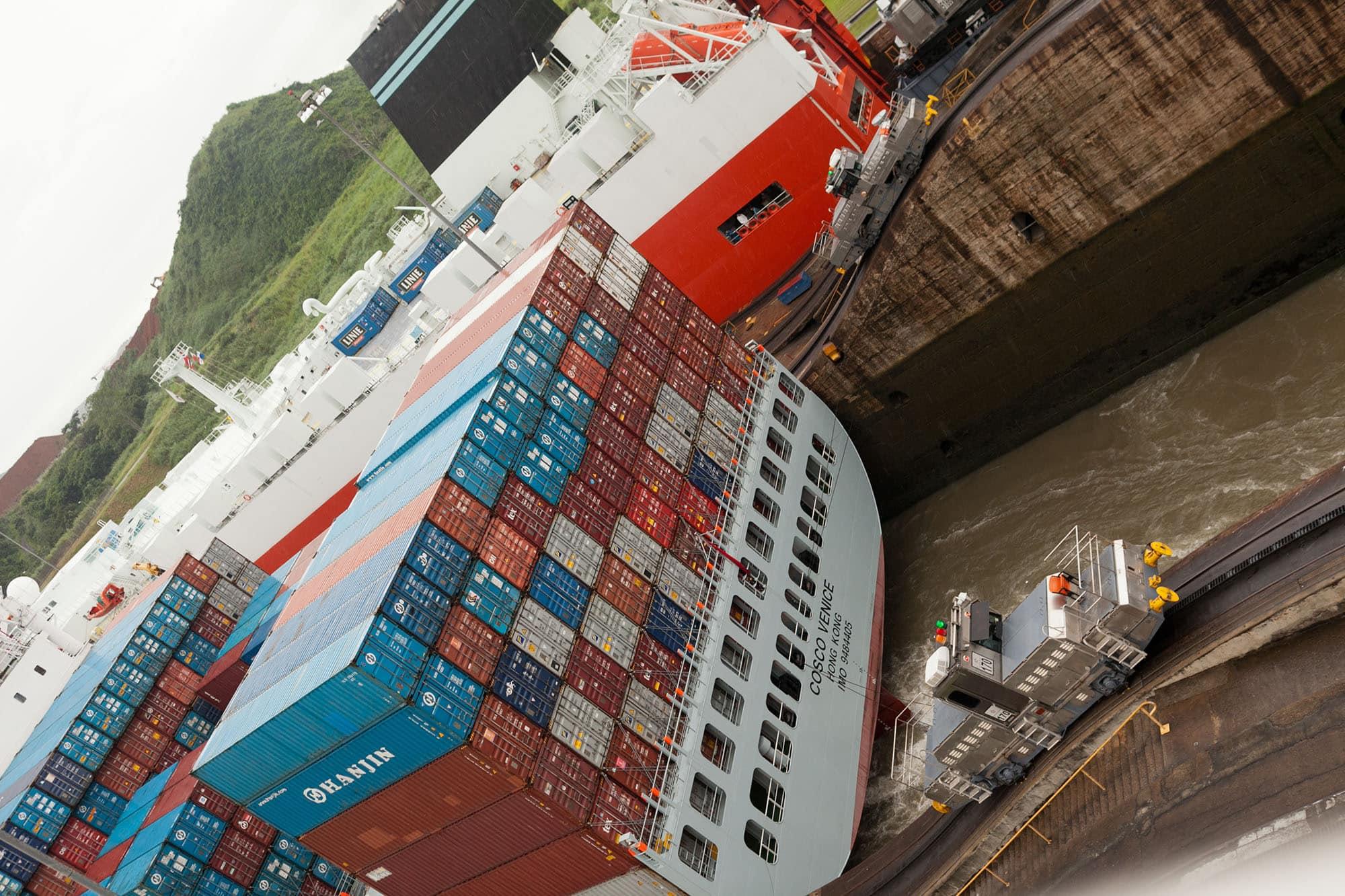 Miraflores Locks at The Panama Canal