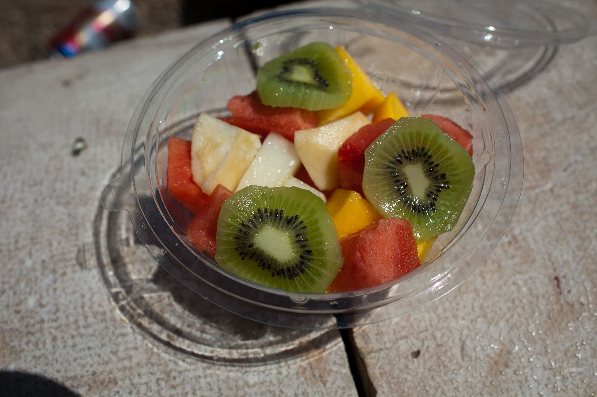 Fruit salad in Valencia, Spain.