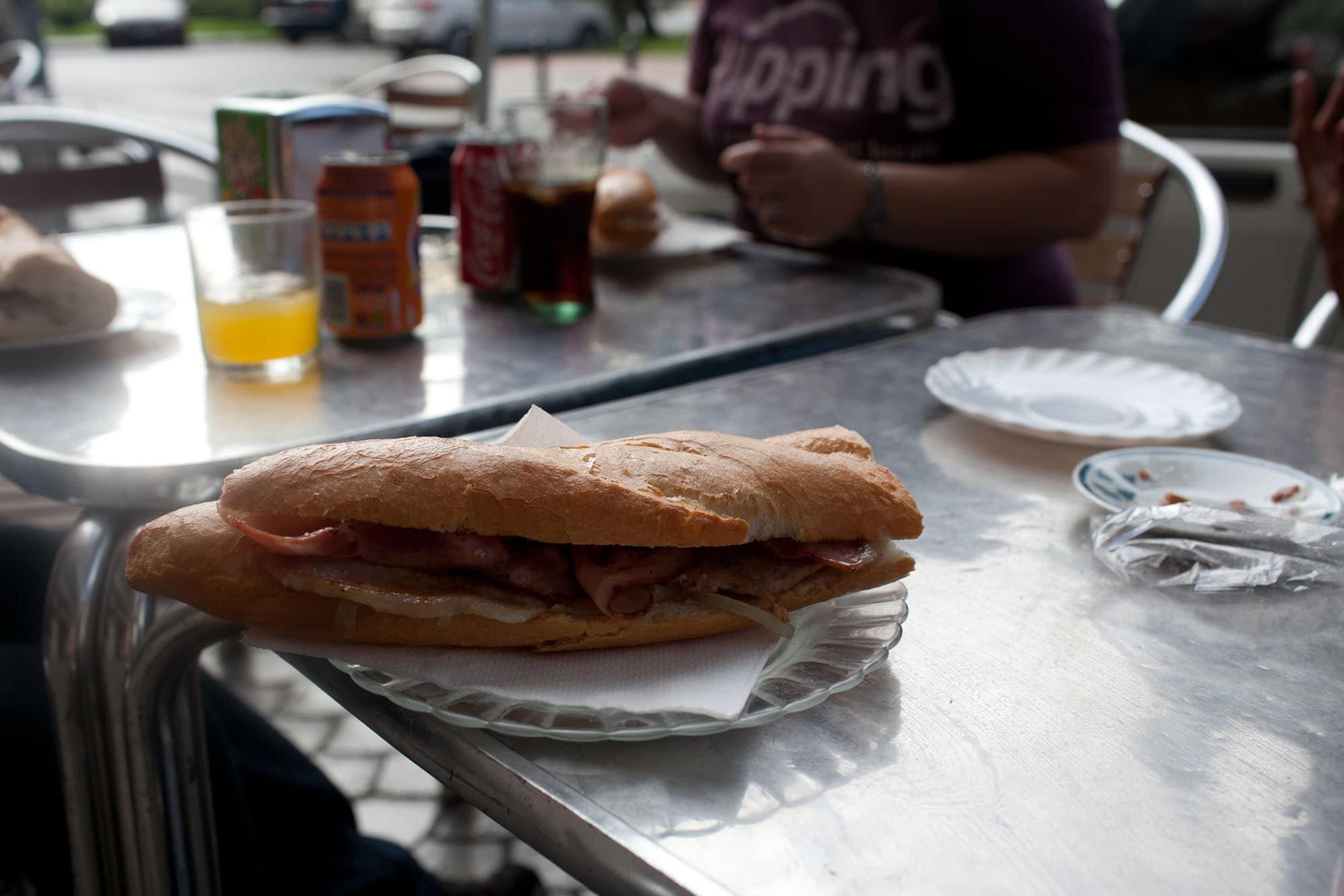 sandwich in Valencia, Spain.