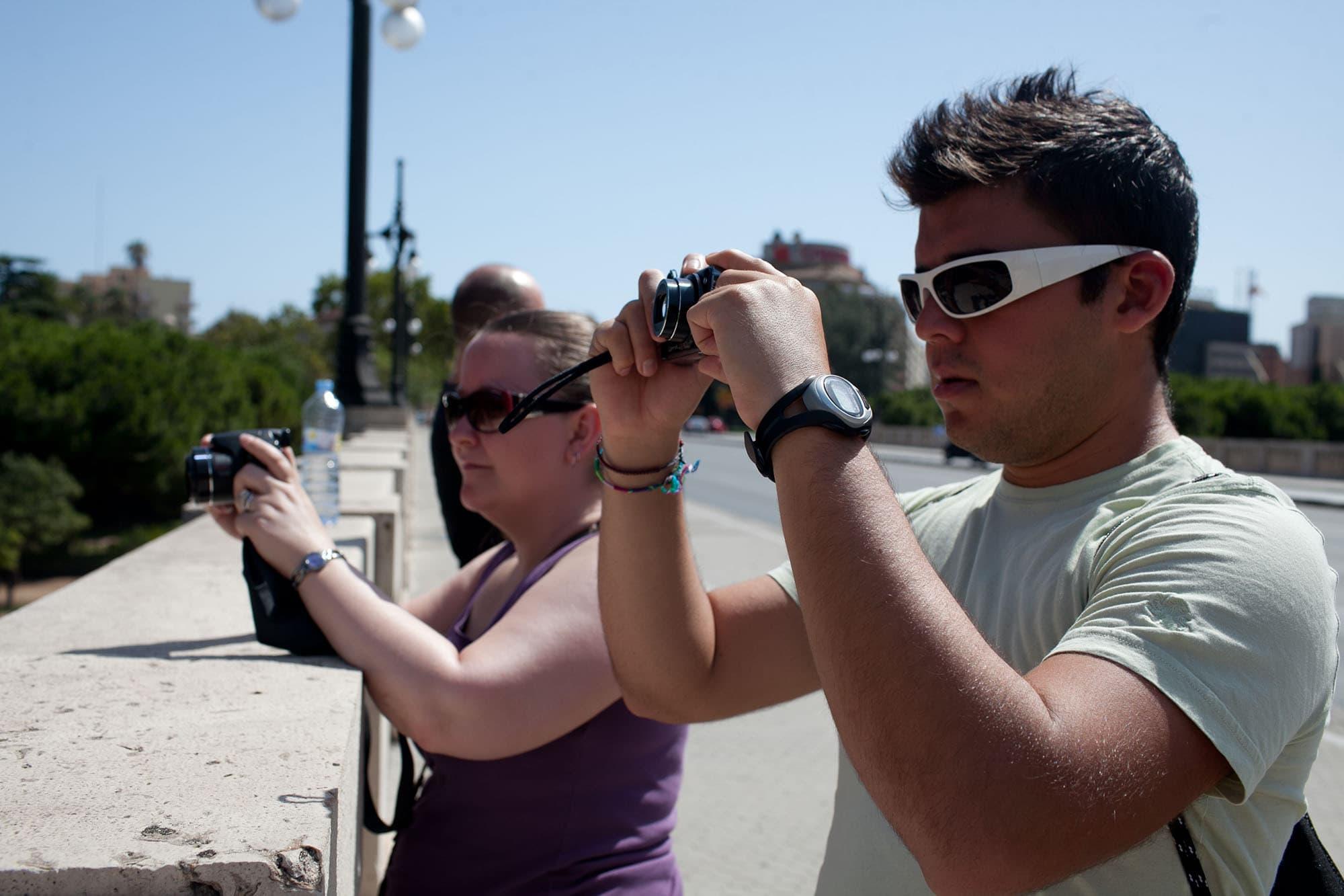 Jaime and Ali taking photos.