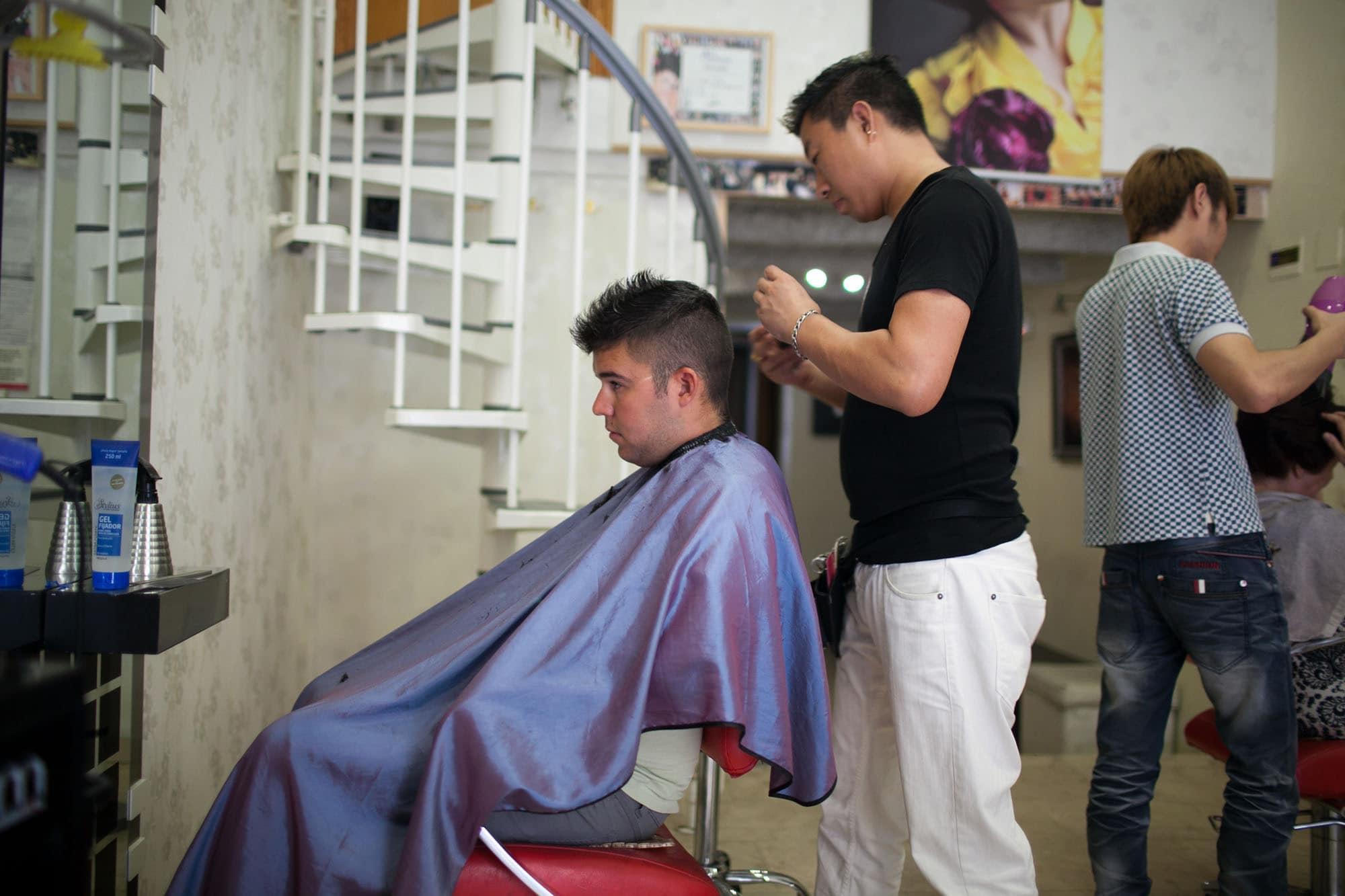 Jaime gets a haircut.